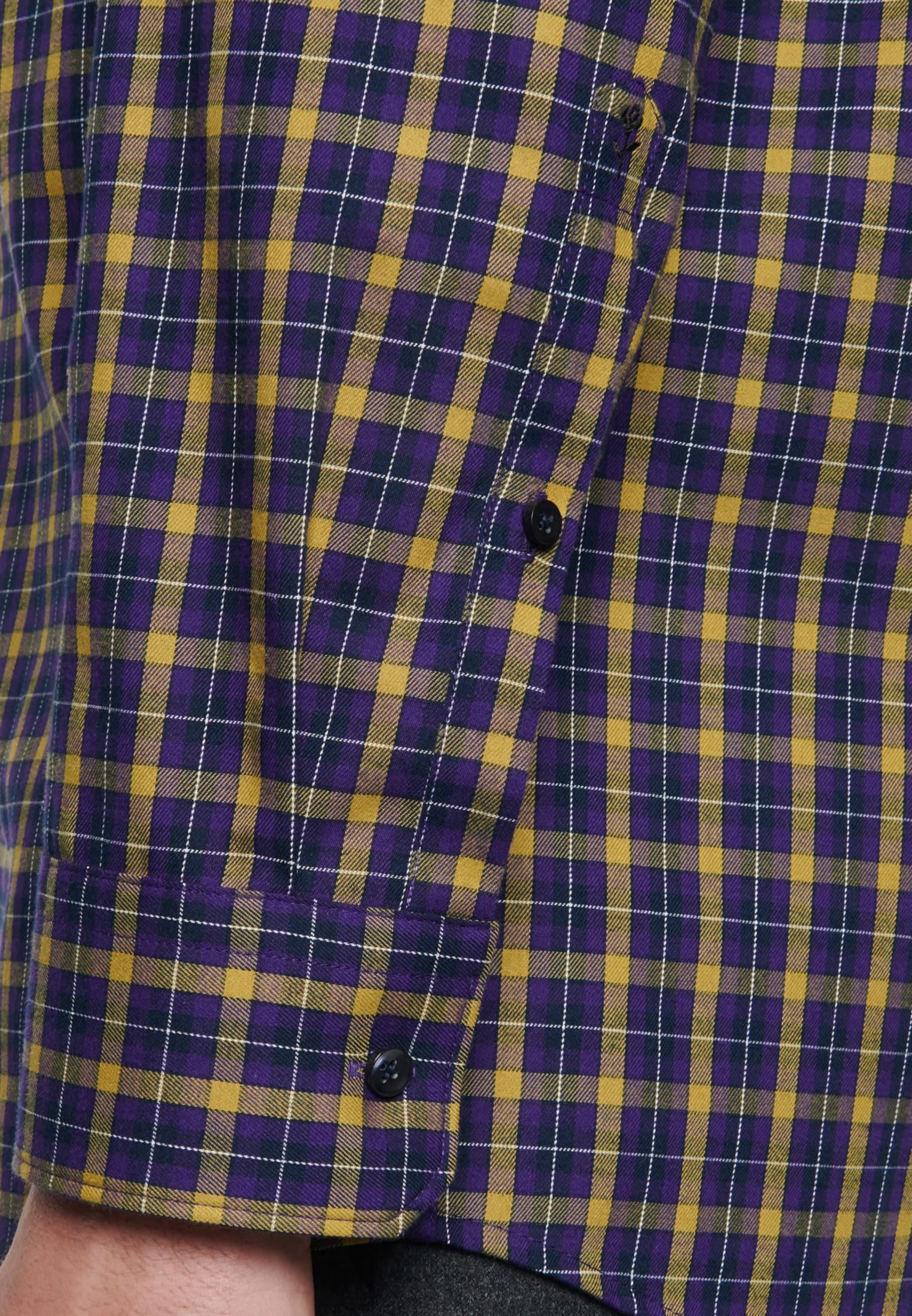 Easy-iron Twill Business Shirt in Modern with Button-Down-Collar in gelb    Seidensticker Onlineshop