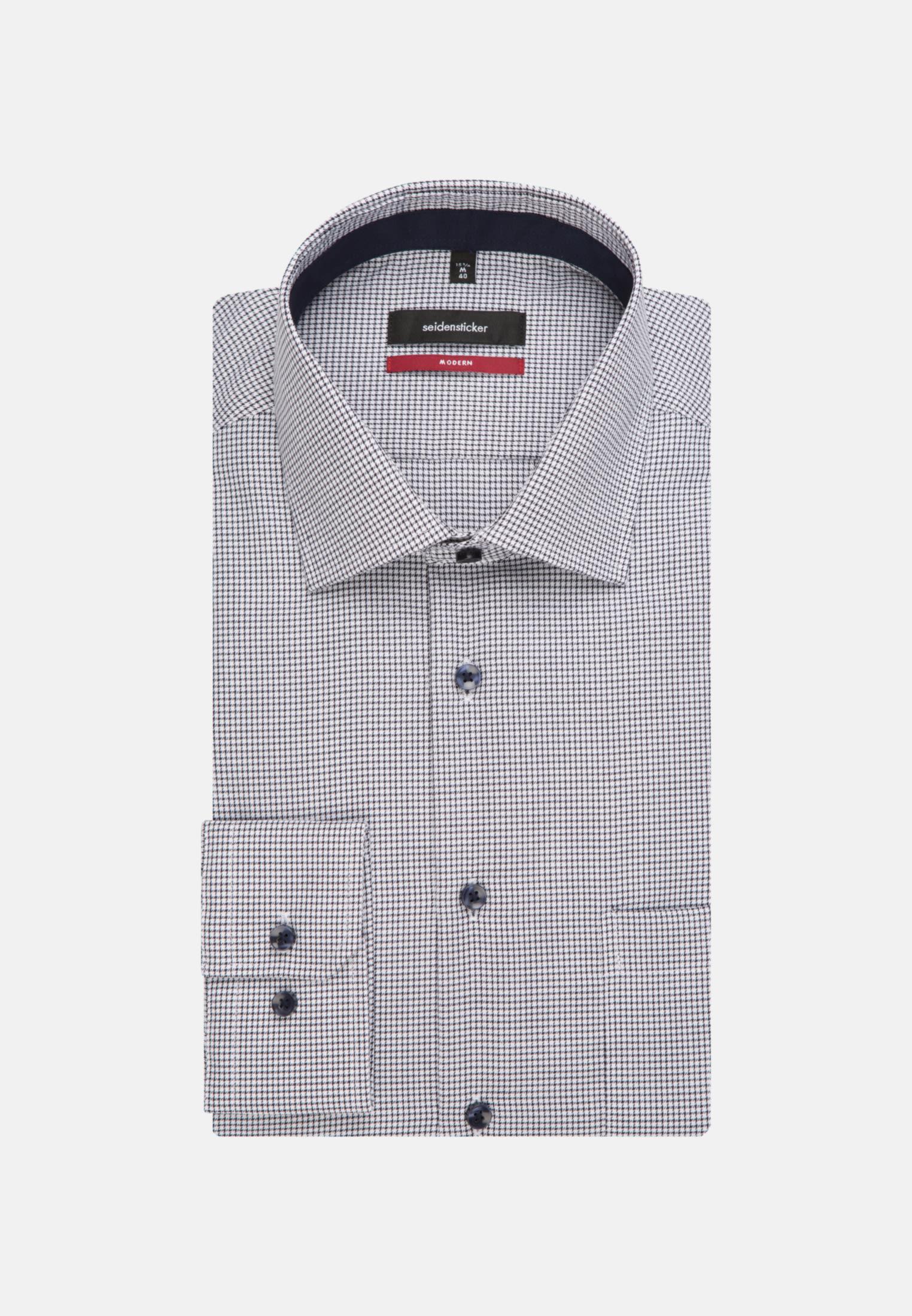 Non-iron Twill Business Shirt in Modern with Kent-Collar in dunkelblau |  Seidensticker Onlineshop