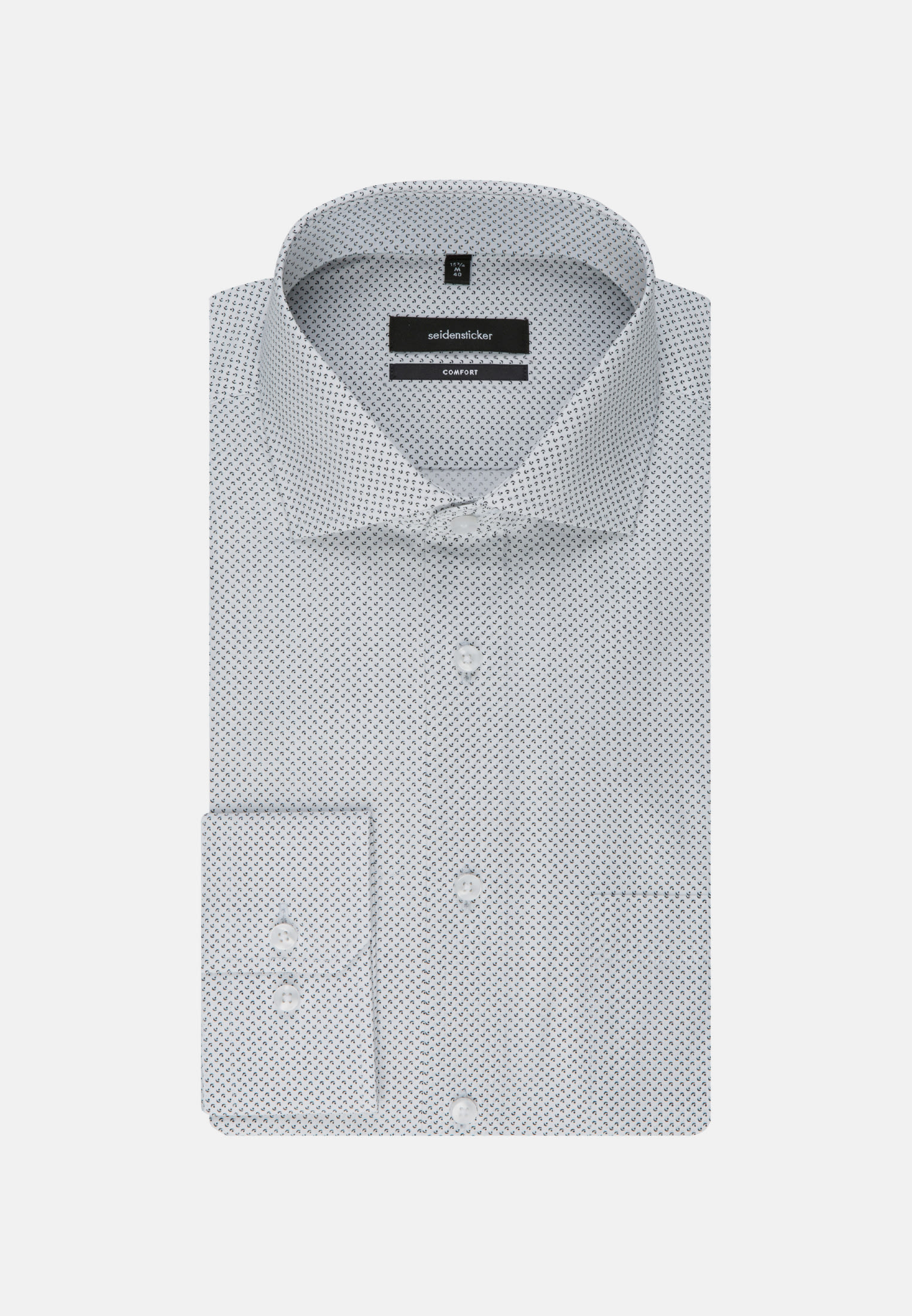 Easy-iron Poplin Business Shirt in Comfort with Kent-Collar and extra long arm in Black |  Seidensticker Onlineshop