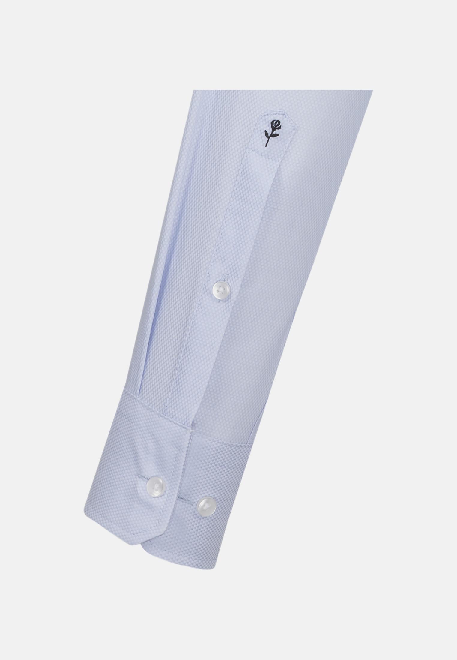 Bügelleichtes Struktur Business Hemd in Regular mit Kentkragen in Hellblau    Seidensticker Onlineshop