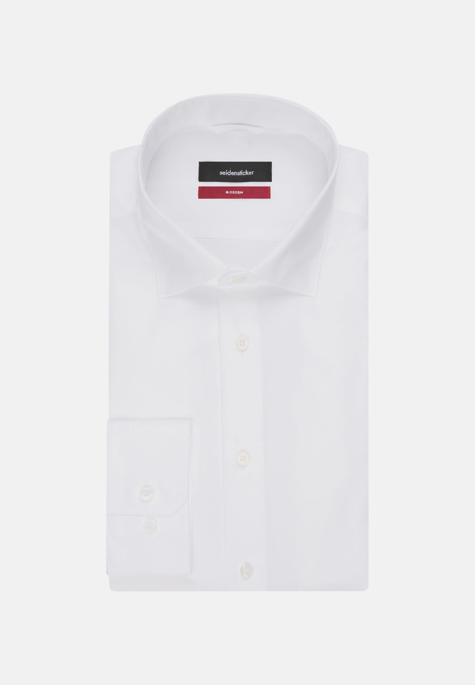 Easy-iron Poplin Business Shirt in Modern with Kent-Collar in White |  Seidensticker Onlineshop