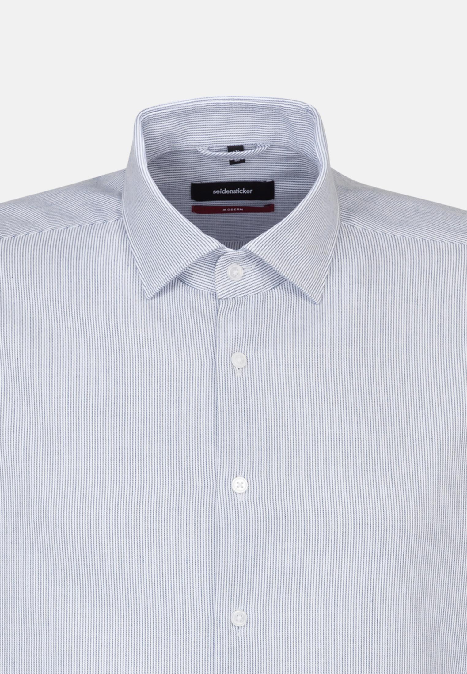 Easy-iron Twill Business Shirt in Regular with Kent-Collar in Medium blue |  Seidensticker Onlineshop