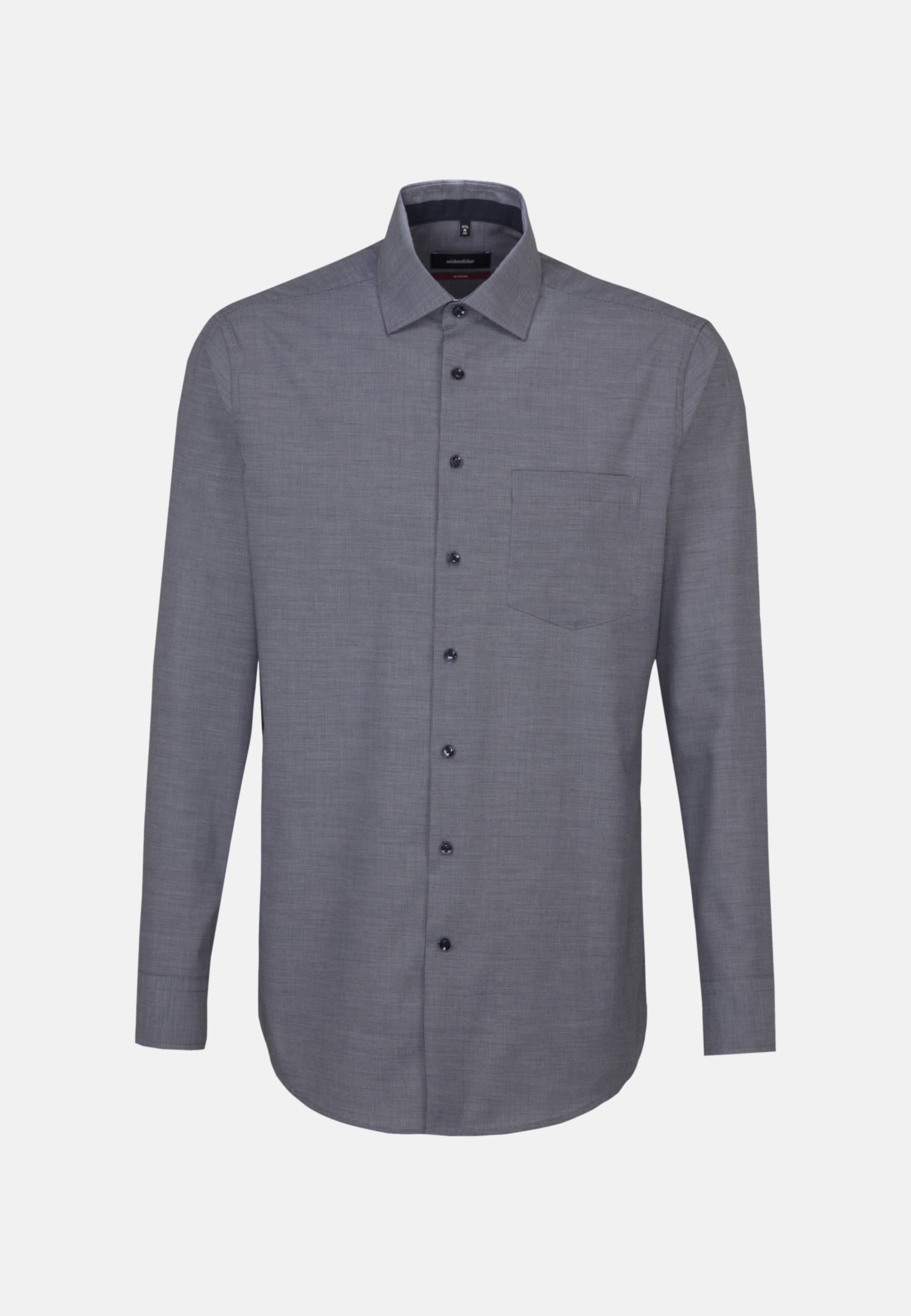 Non-iron Structure Business Shirt in Regular with Kent-Collar in Dark blue |  Seidensticker Onlineshop