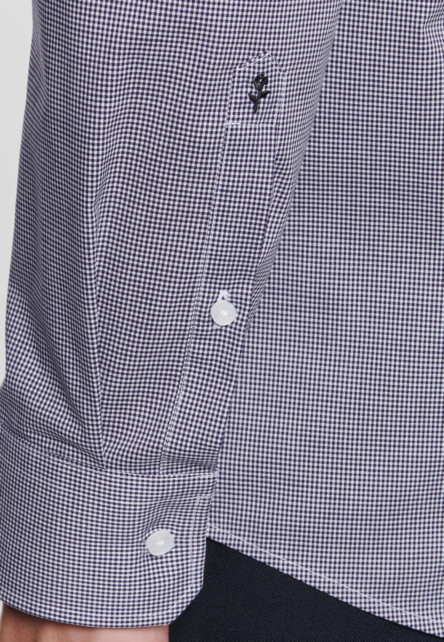 Bügelfreies Popeline Business Hemd in Regular mit Kentkragen in Lila |  Seidensticker Onlineshop