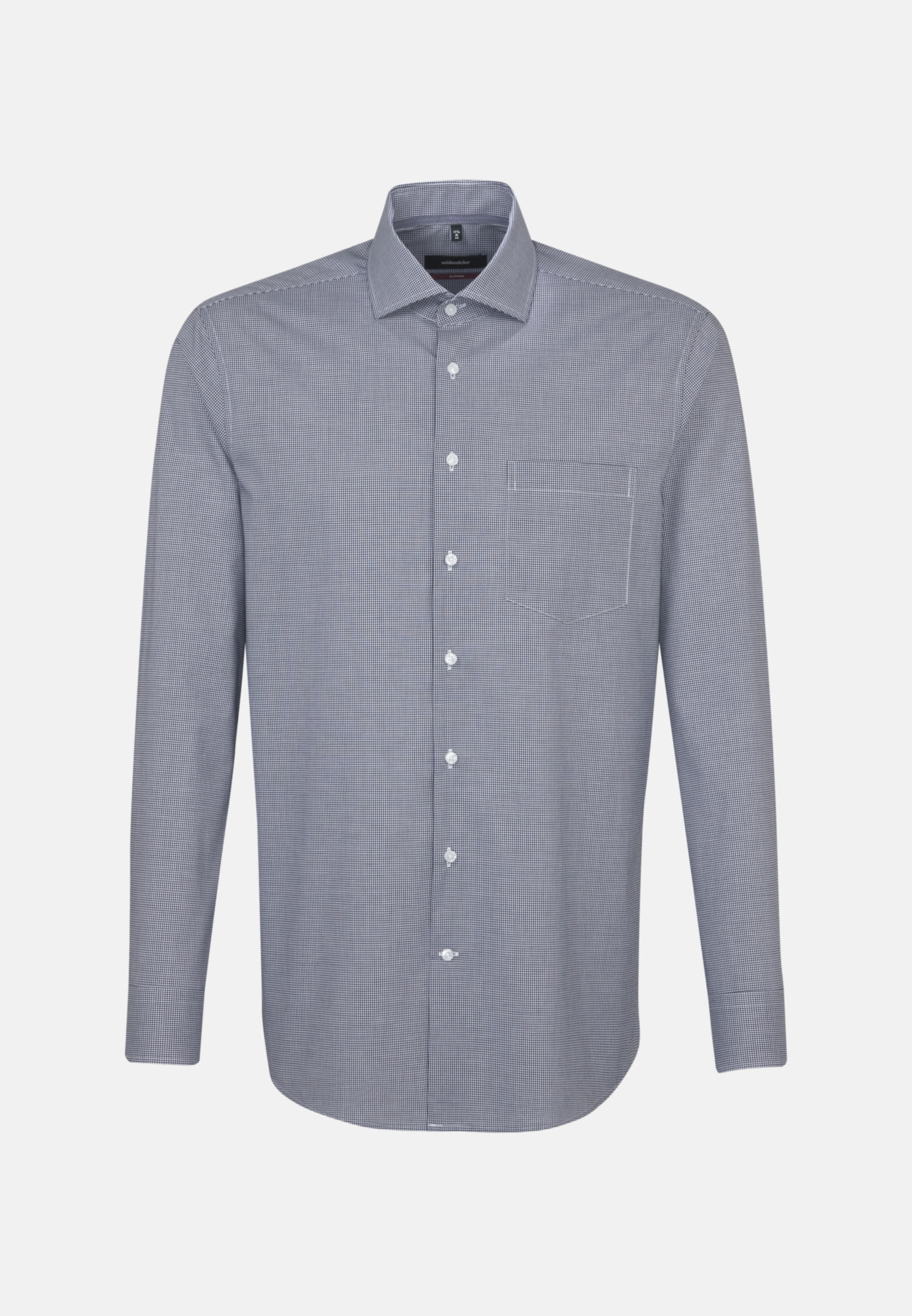 Non-iron Poplin Business Shirt in Regular with Kent-Collar in Dark blue |  Seidensticker Onlineshop