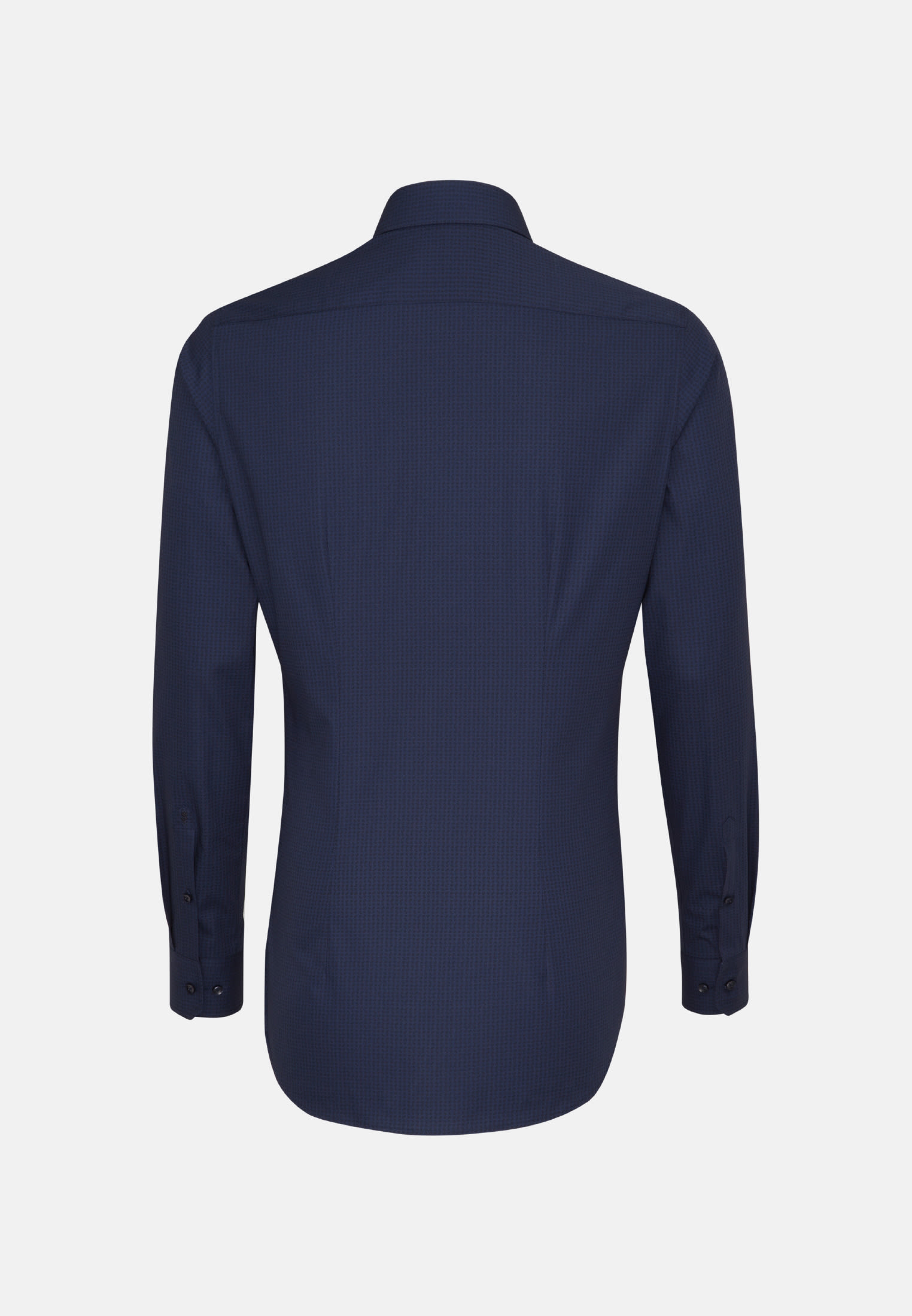 Easy-iron Poplin Business Shirt in X-Slim with Kent-Collar and extra long sleeve in Dark blue |  Seidensticker Onlineshop