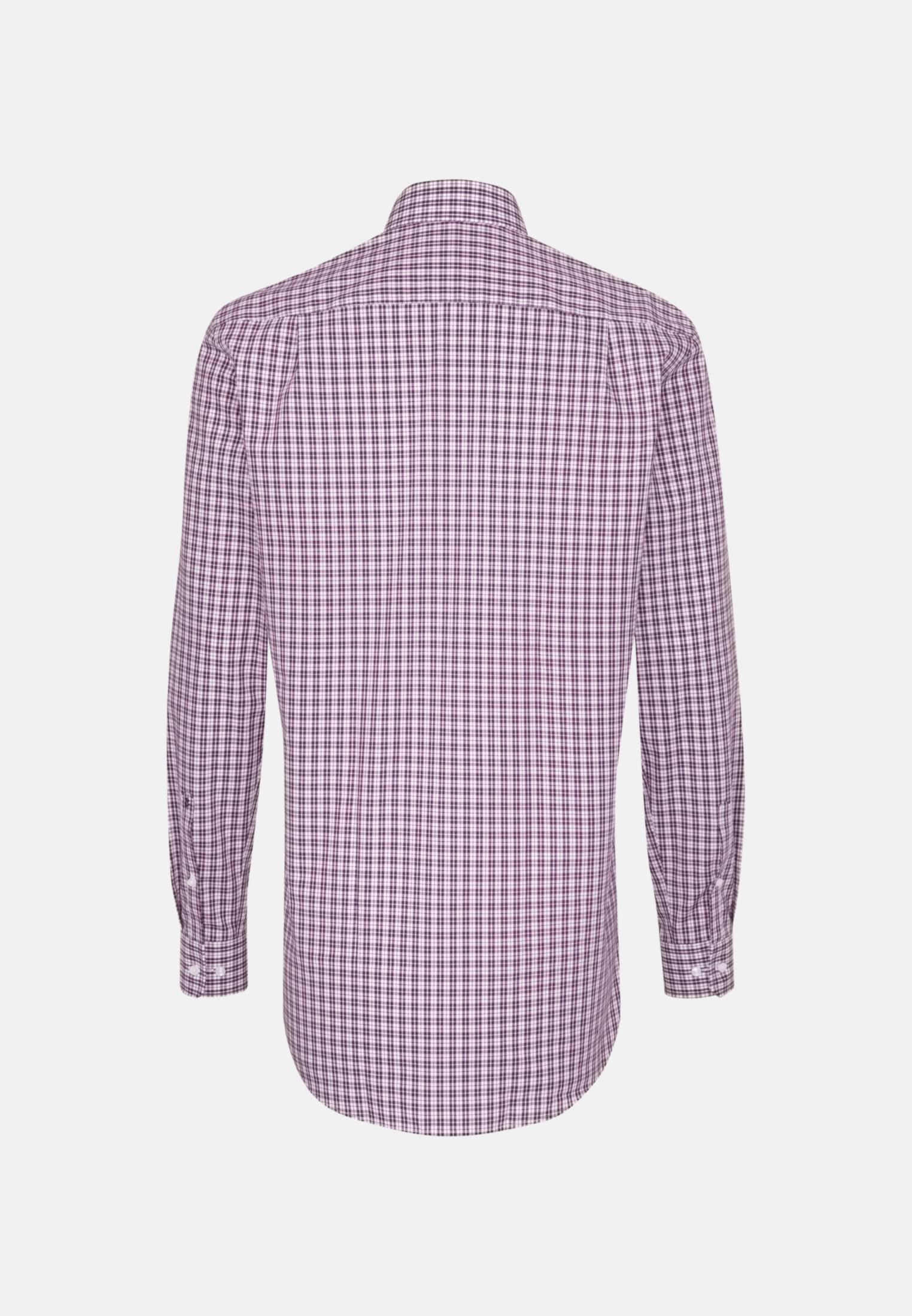Bügelfreies Popeline Business Hemd in Regular mit Kentkragen und extra langem Arm in Lila |  Seidensticker Onlineshop