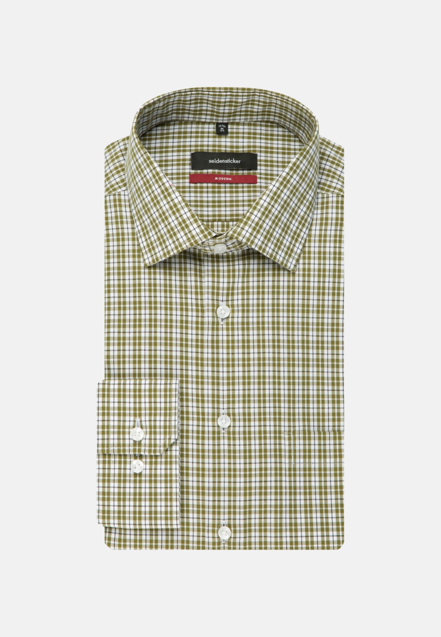 Non-iron Poplin Business Shirt in Regular with Kent-Collar and extra long sleeve in Green |  Seidensticker Onlineshop