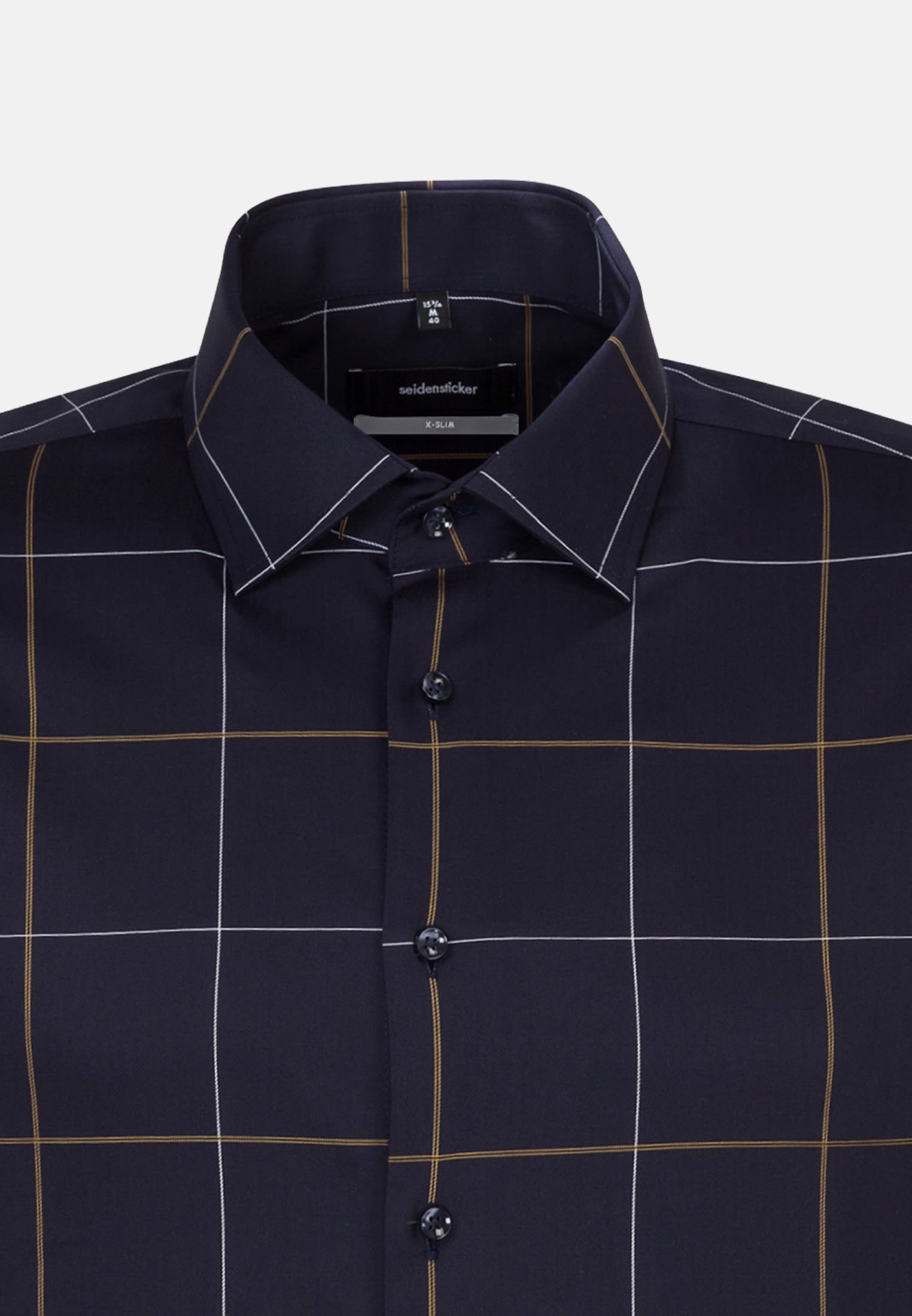 Non-iron Twill Business Shirt in X-Slim with Kent-Collar in Yellow |  Seidensticker Onlineshop