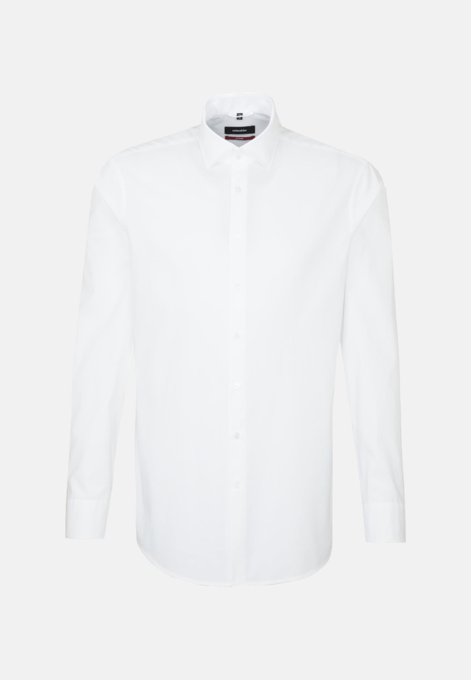 Easy-iron Twill Business Shirt in Modern with Kent-Collar in weiß |  Seidensticker Onlineshop