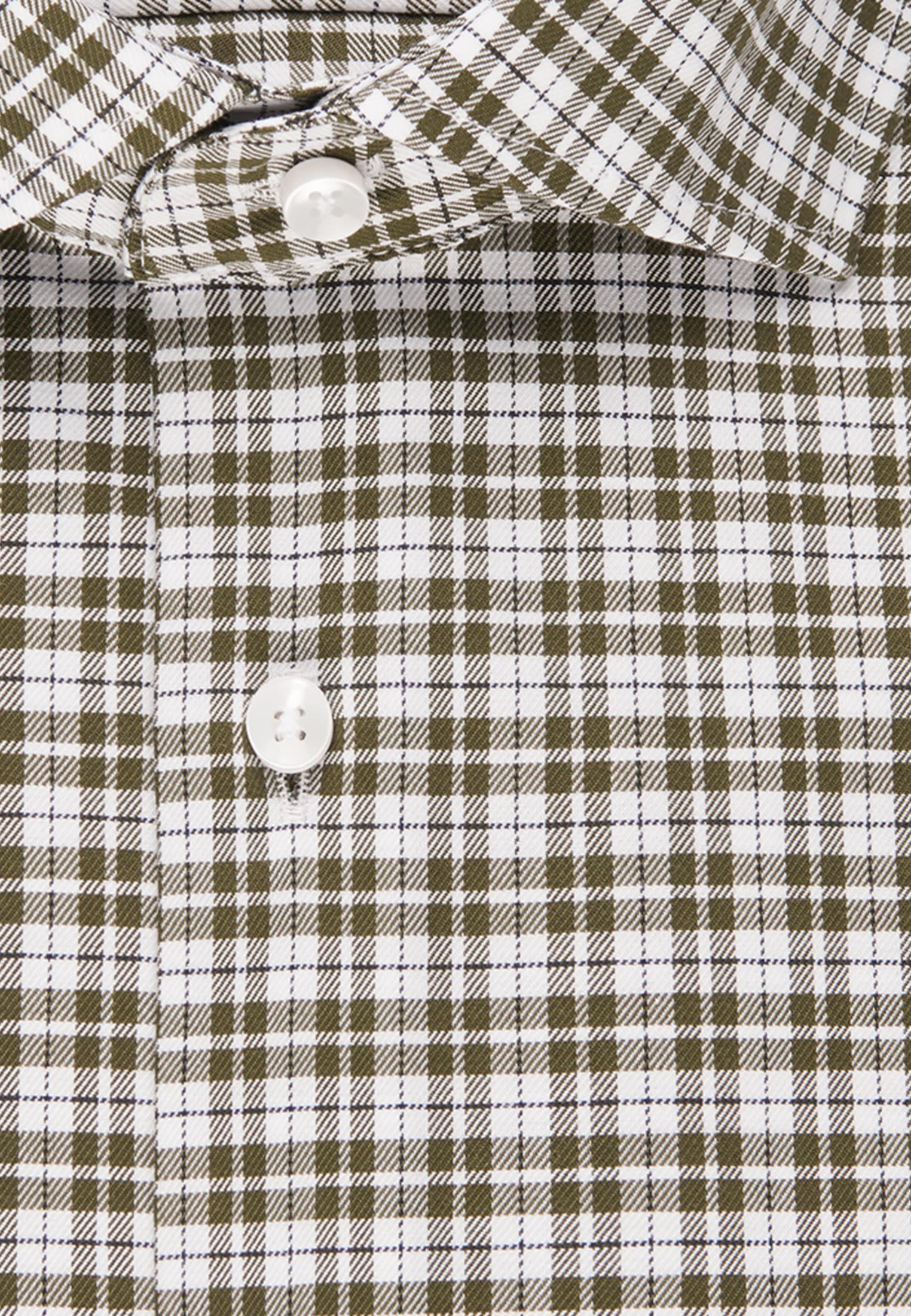 Bügelfreies Twill Business Hemd in Shaped mit Kentkragen in Grün |  Seidensticker Onlineshop