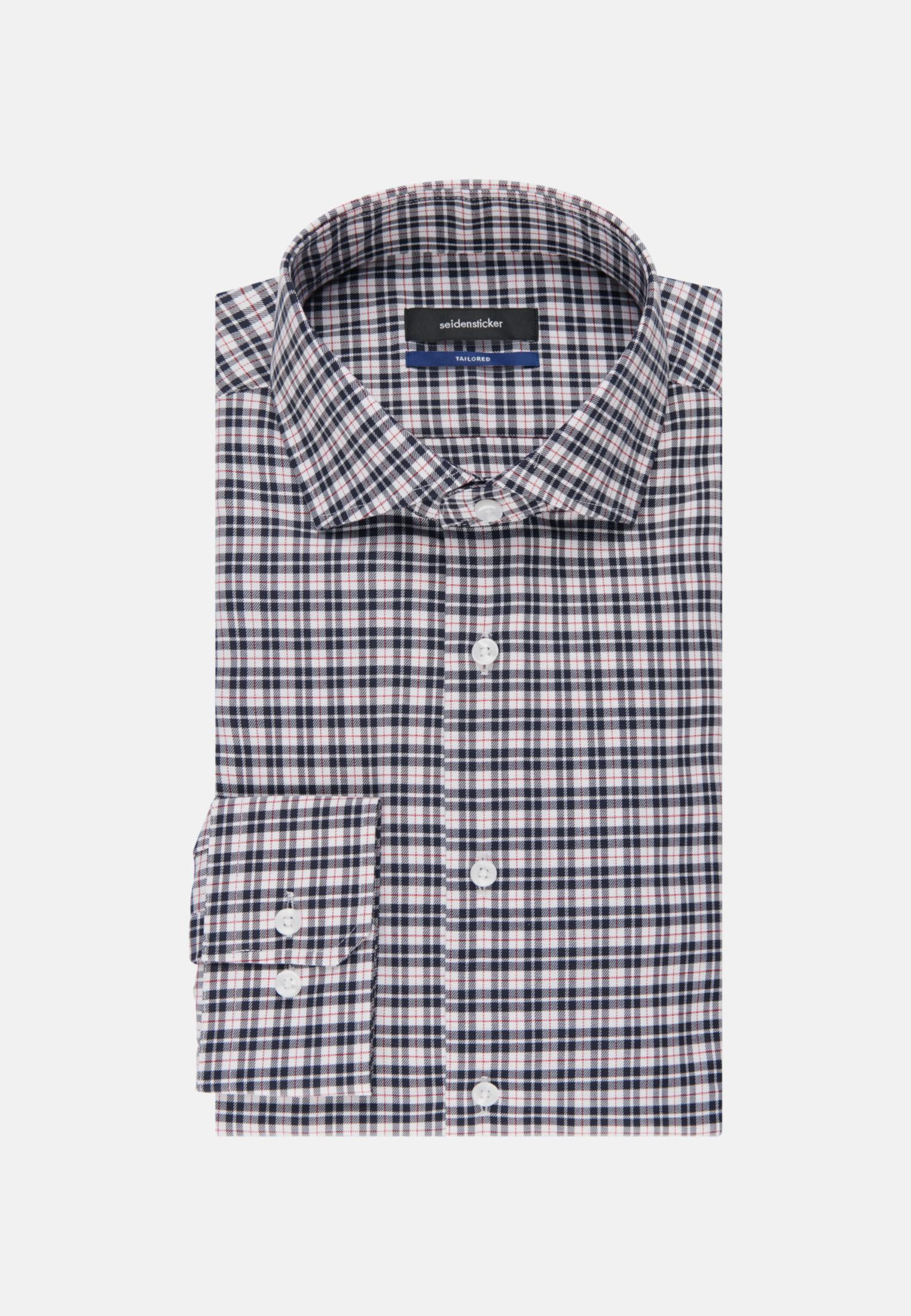 Bügelfreies Twill Business Hemd in Shaped mit Kentkragen in Rot    Seidensticker Onlineshop