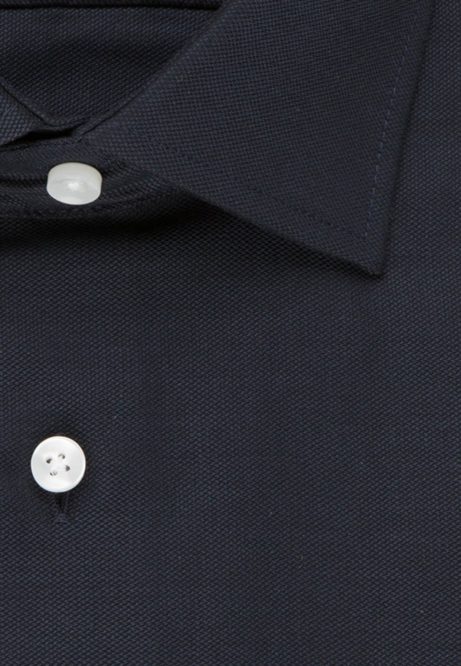 Non-iron Structure Business Shirt in Regular with Kent-Collar and extra long sleeve in Dark blue |  Seidensticker Onlineshop