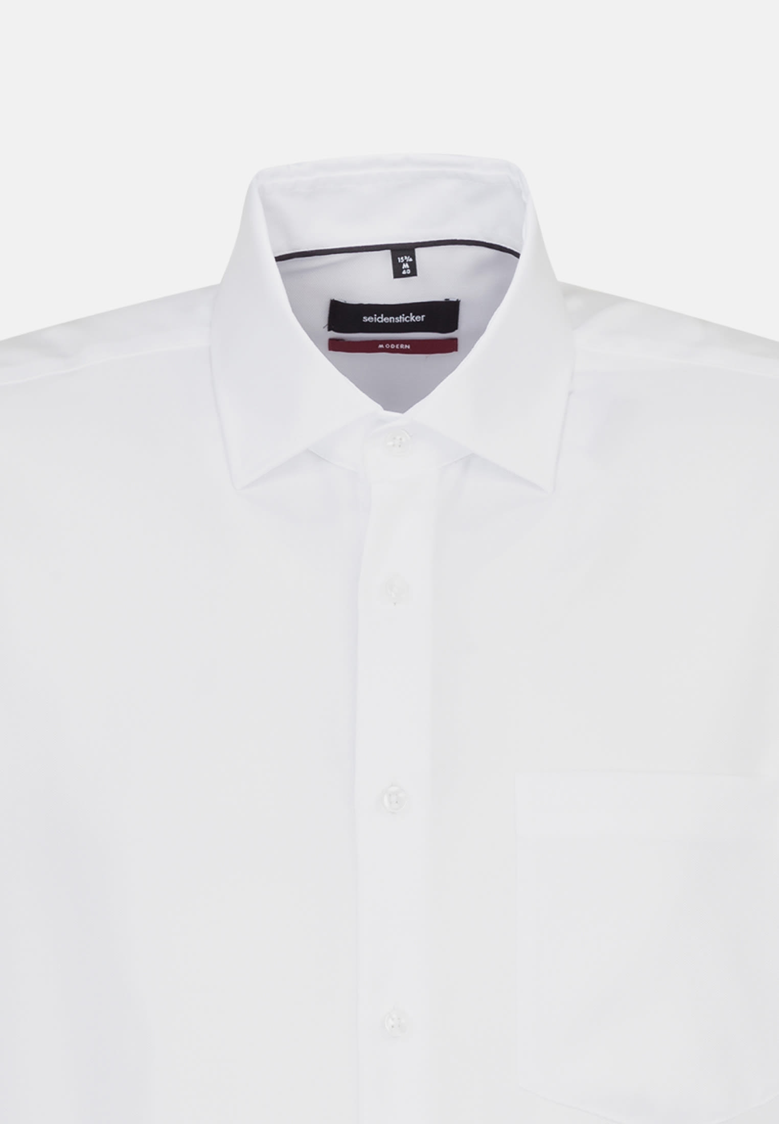 Non-iron Structure Business Shirt in Regular with Kent-Collar and extra long arm in White |  Seidensticker Onlineshop