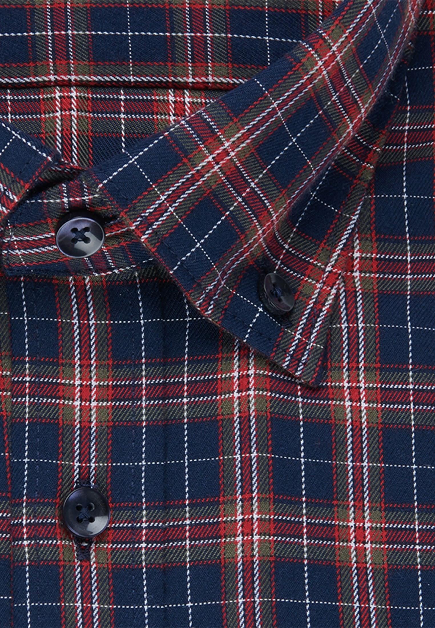 Bügelleichtes Twill Business Hemd in Slim mit Button-Down-Kragen in Rot    Seidensticker Onlineshop