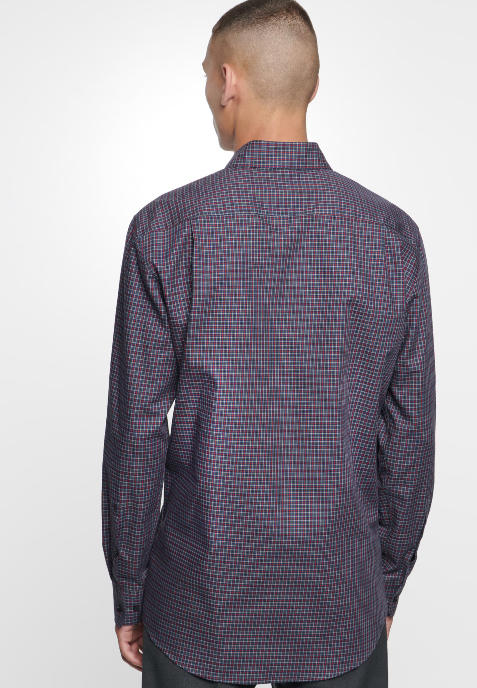 Easy-iron Twill Business Shirt in Modern with Button-Down-Collar in rot |  Seidensticker Onlineshop