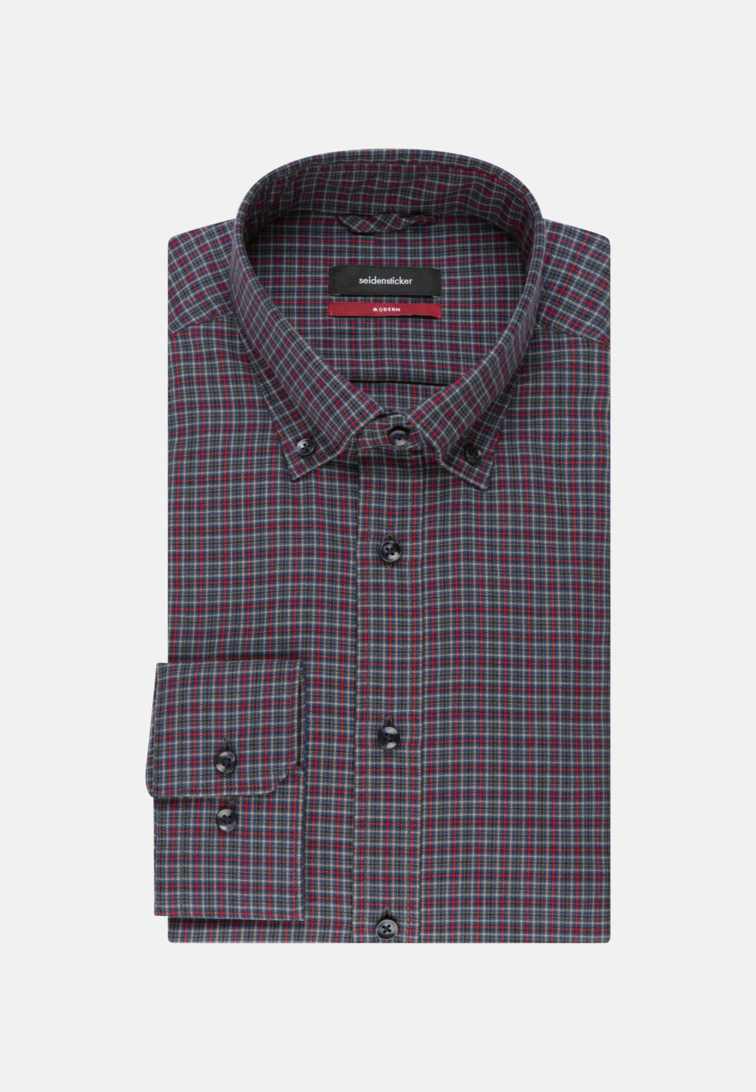 Easy-iron Twill Business Shirt in Regular with Button-Down-Collar in Red |  Seidensticker Onlineshop