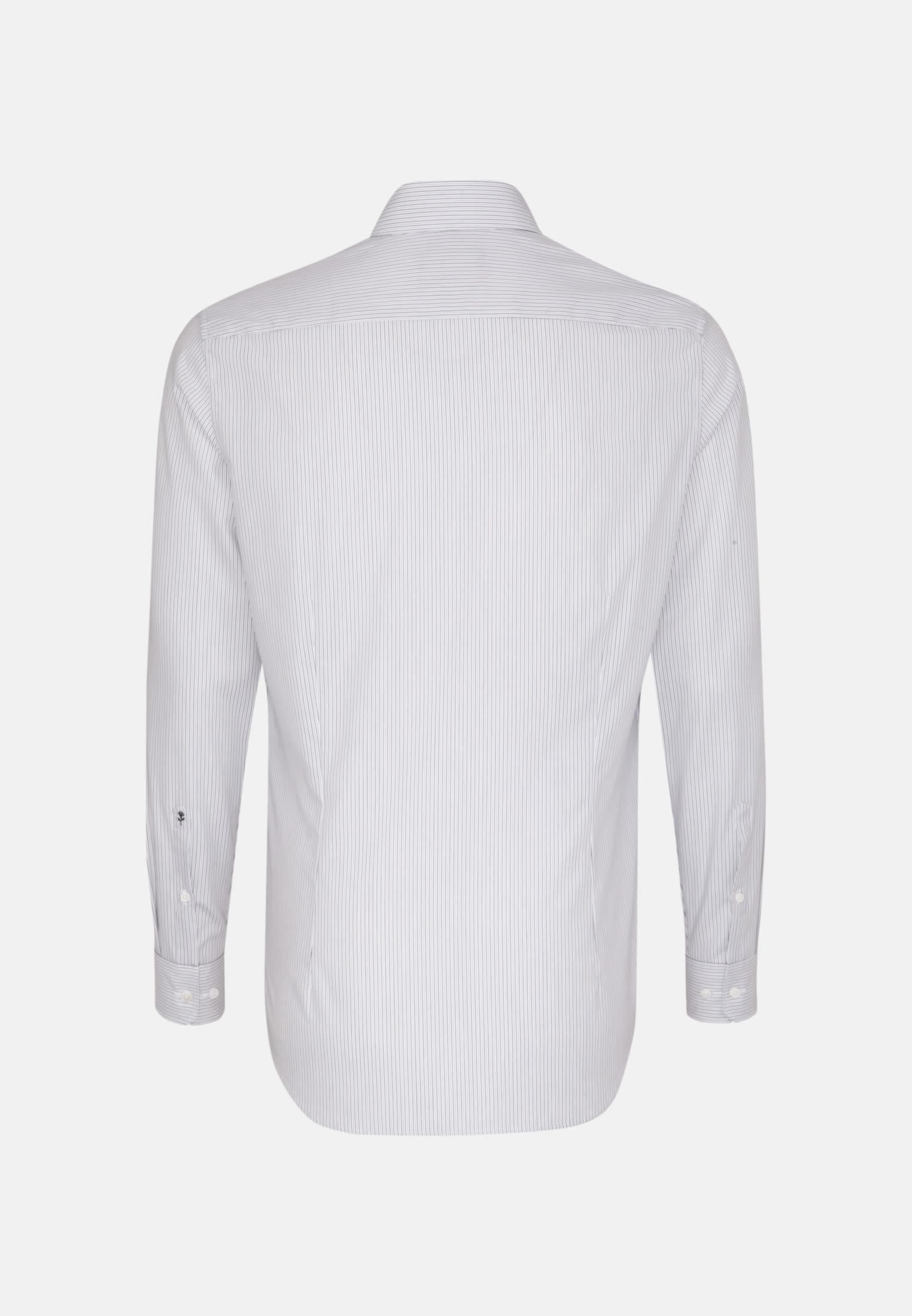Bügelleichtes Popeline Business Hemd in Slim mit Kentkragen in Grau    Seidensticker Onlineshop