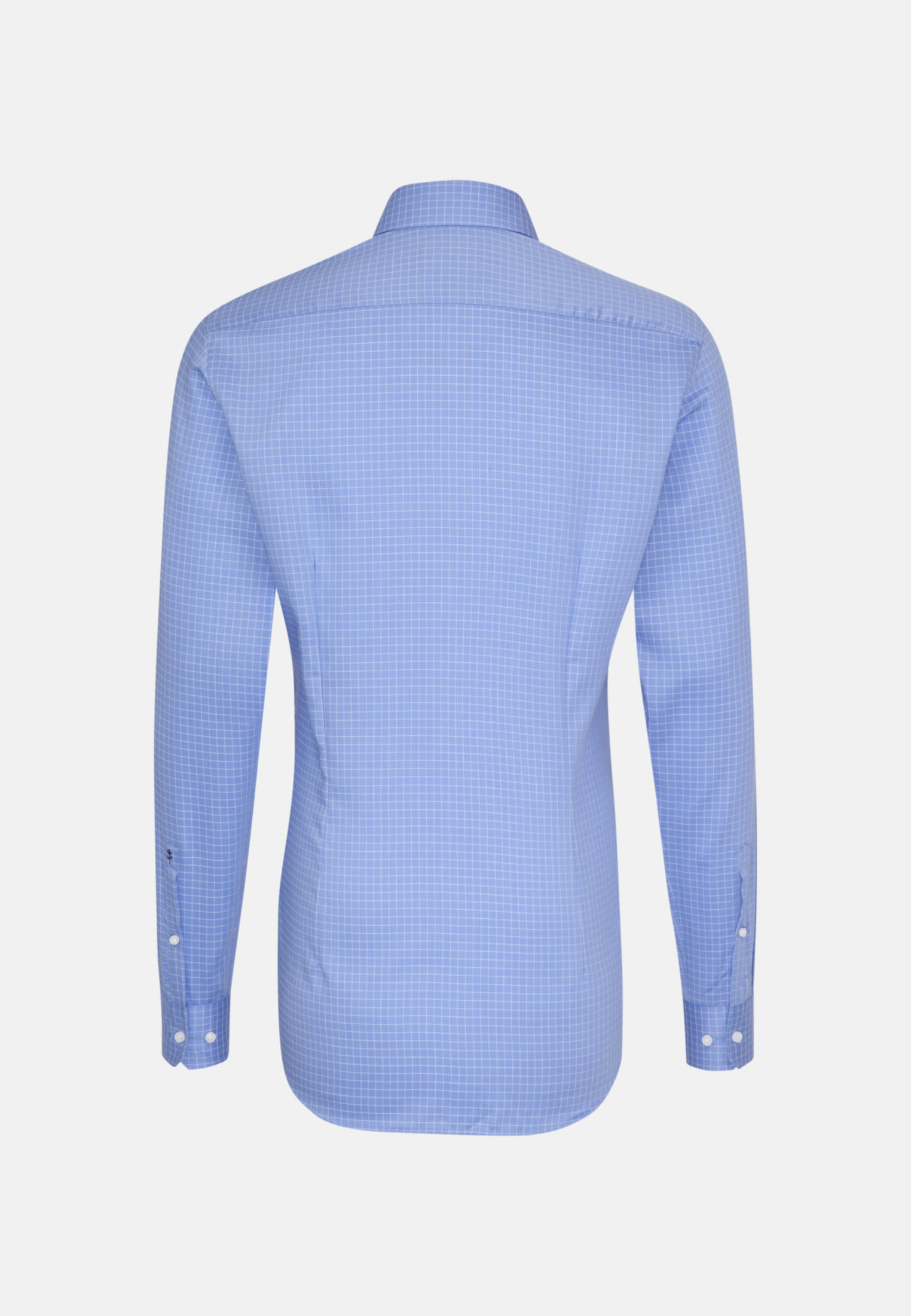 Bügelleichtes Struktur Business Hemd in Shaped mit Kentkragen und extra langem Arm in Hellblau |  Seidensticker Onlineshop