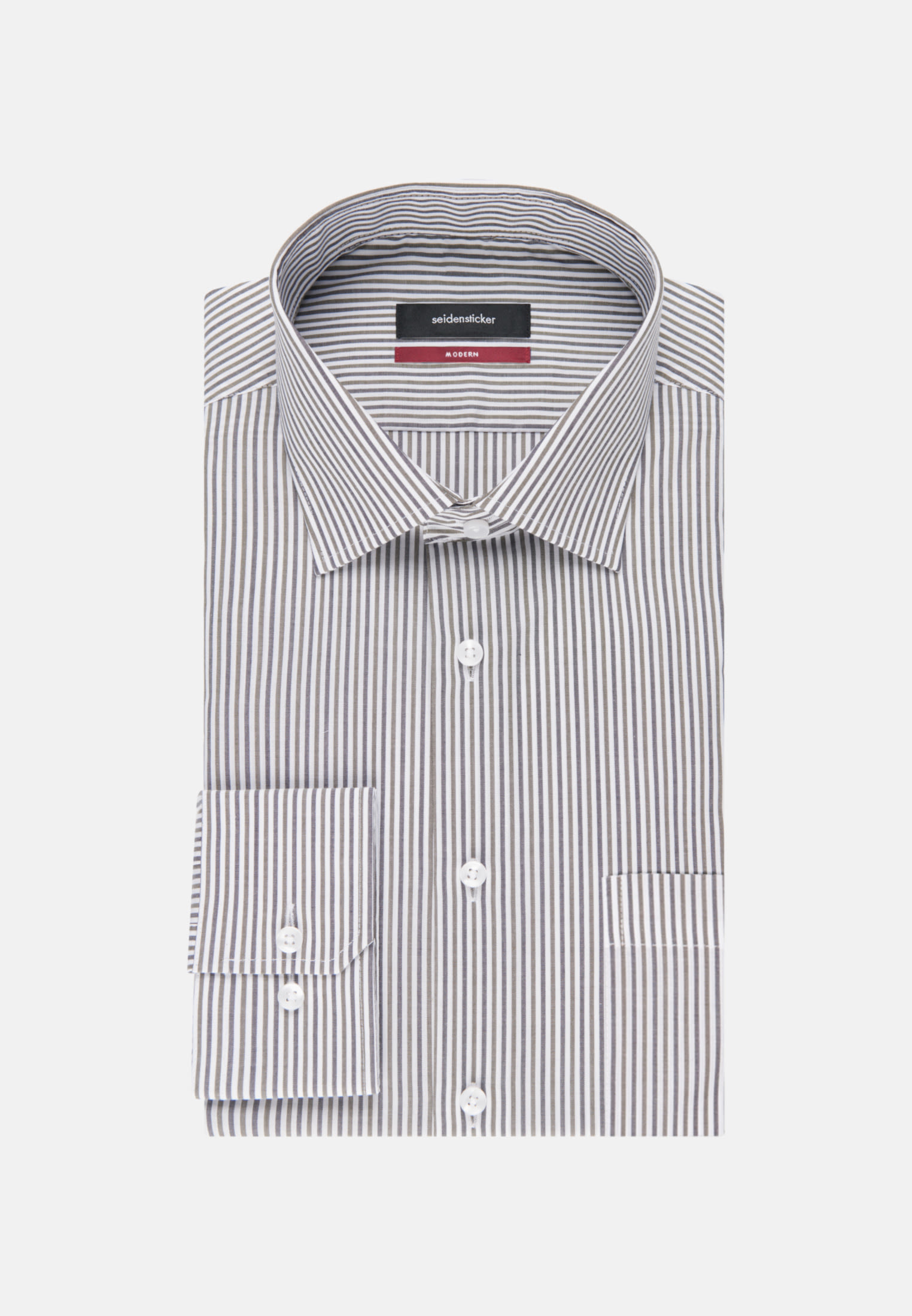 Non-iron Poplin Business Shirt in Regular with Kent-Collar in Green |  Seidensticker Onlineshop