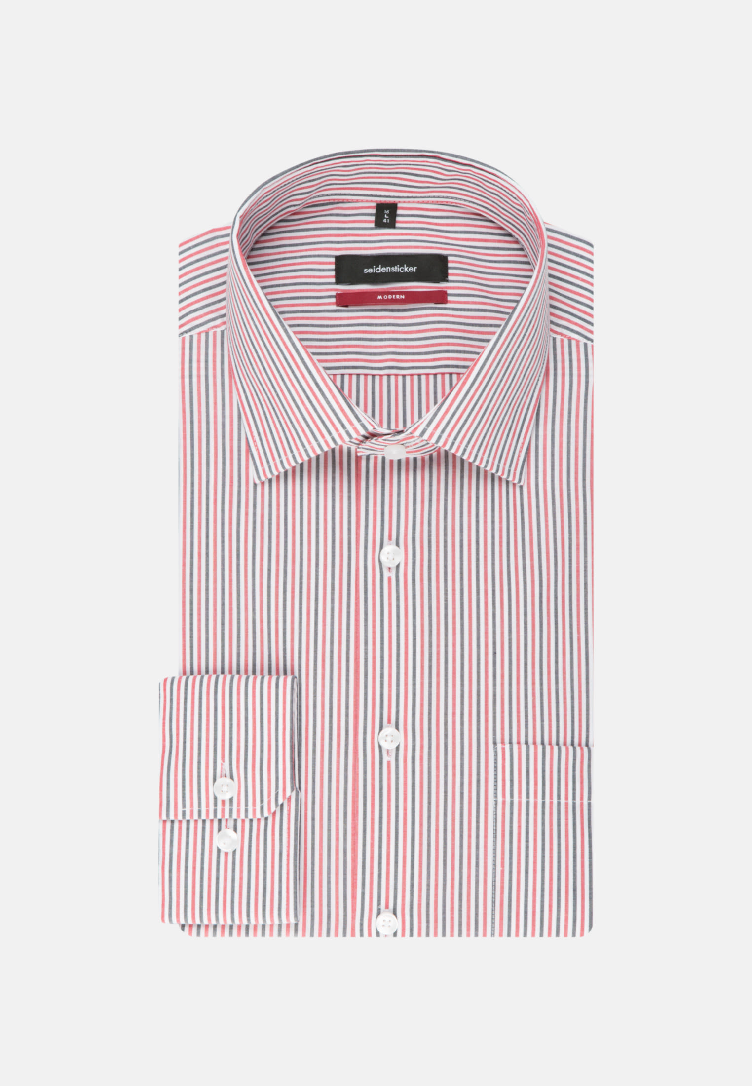 Non-iron Poplin Business Shirt in Modern with Kent-Collar in rot |  Seidensticker Onlineshop