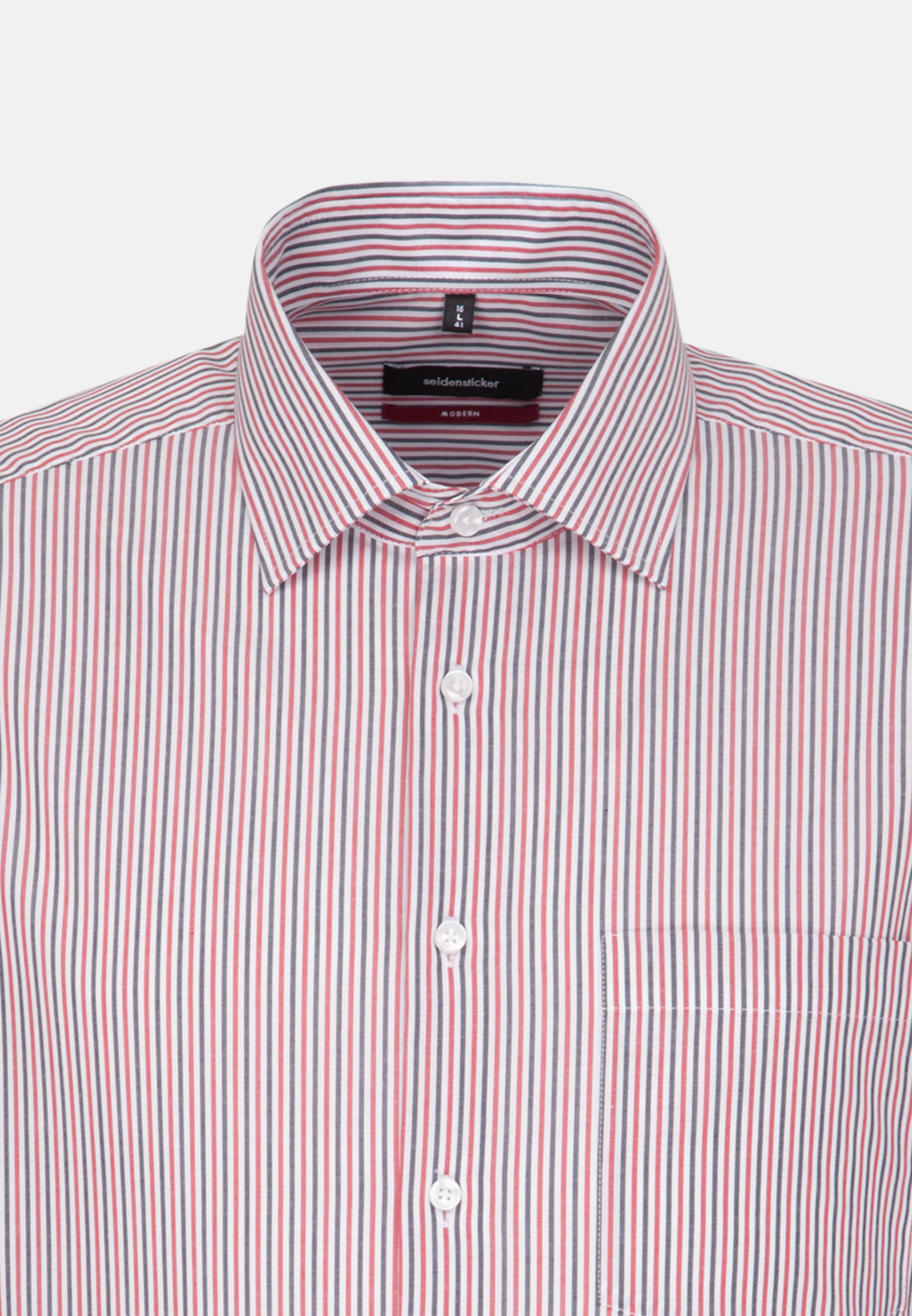 Non-iron Poplin Business Shirt in Regular with Kent-Collar in Red |  Seidensticker Onlineshop