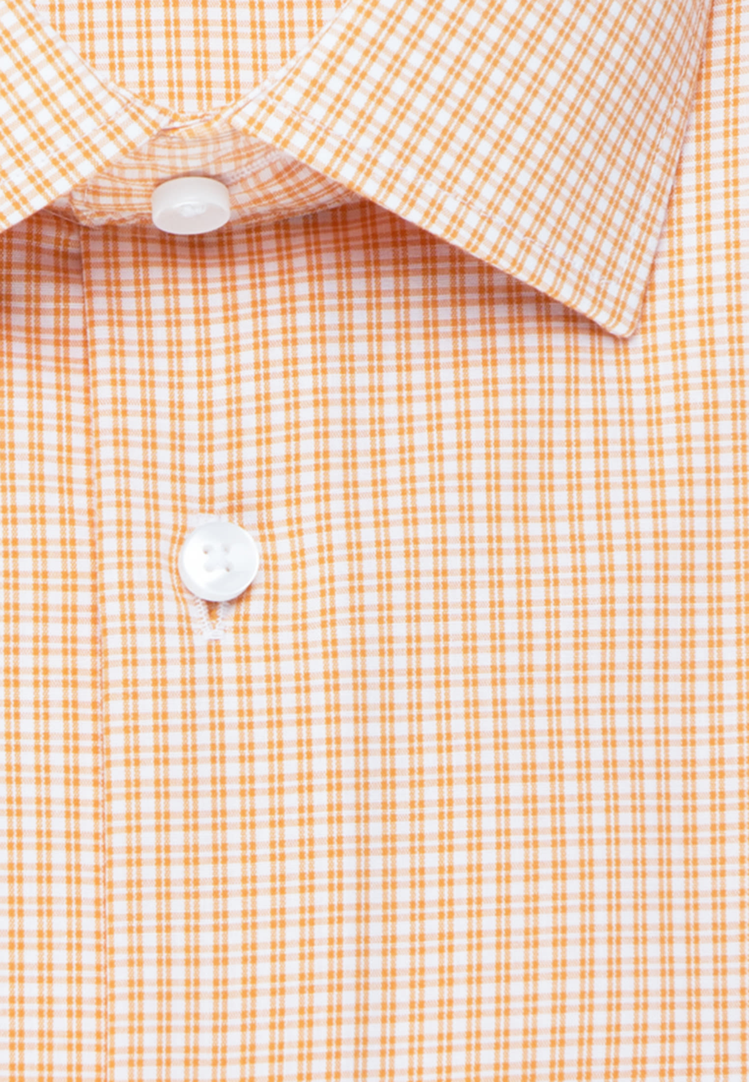 Non-iron Poplin Business Shirt in Shaped with Kent-Collar and extra long sleeve in Orange |  Seidensticker Onlineshop