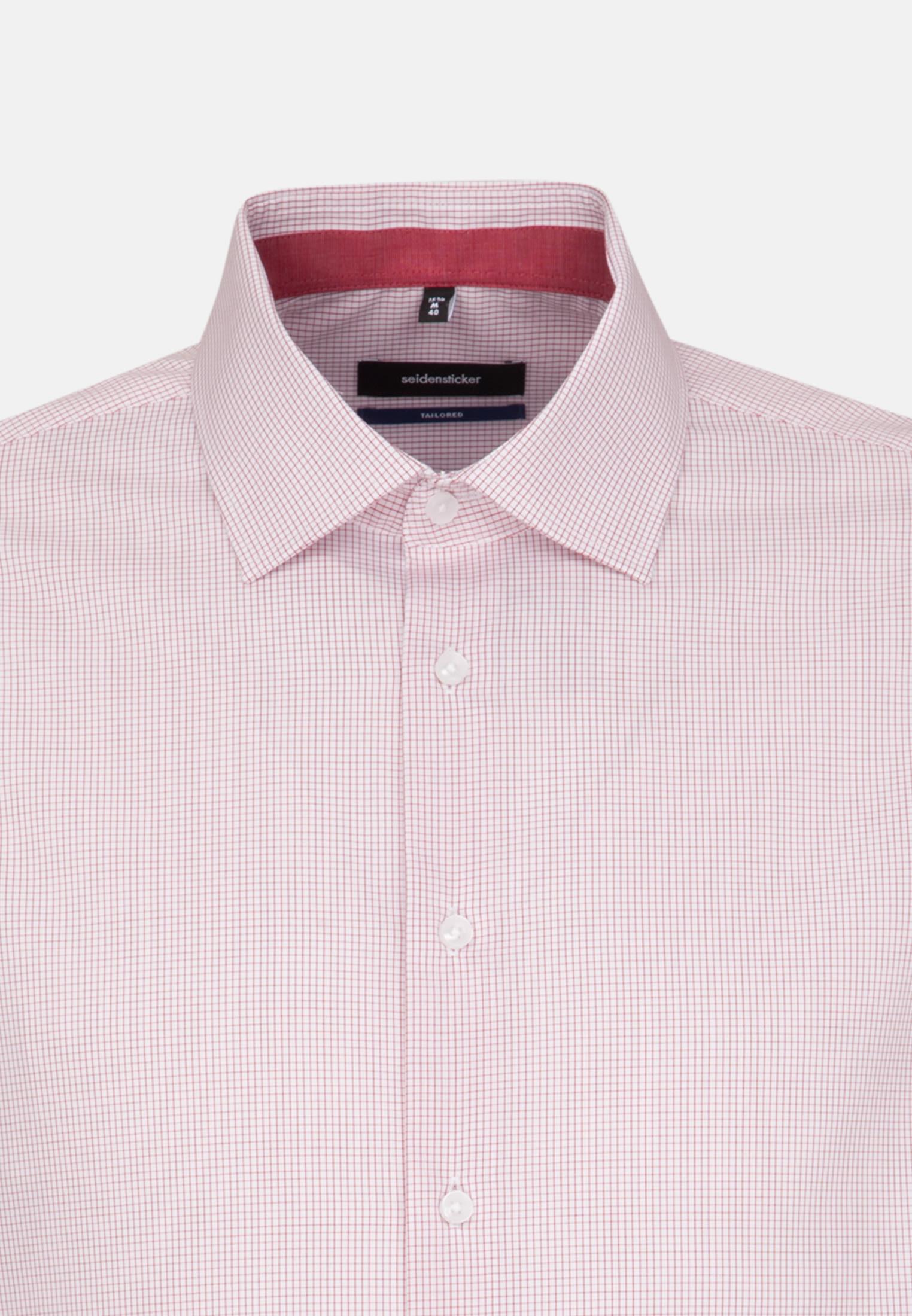 Bügelfreies Popeline Business Hemd in Tailored mit Kentkragen in Rot |  Seidensticker Onlineshop