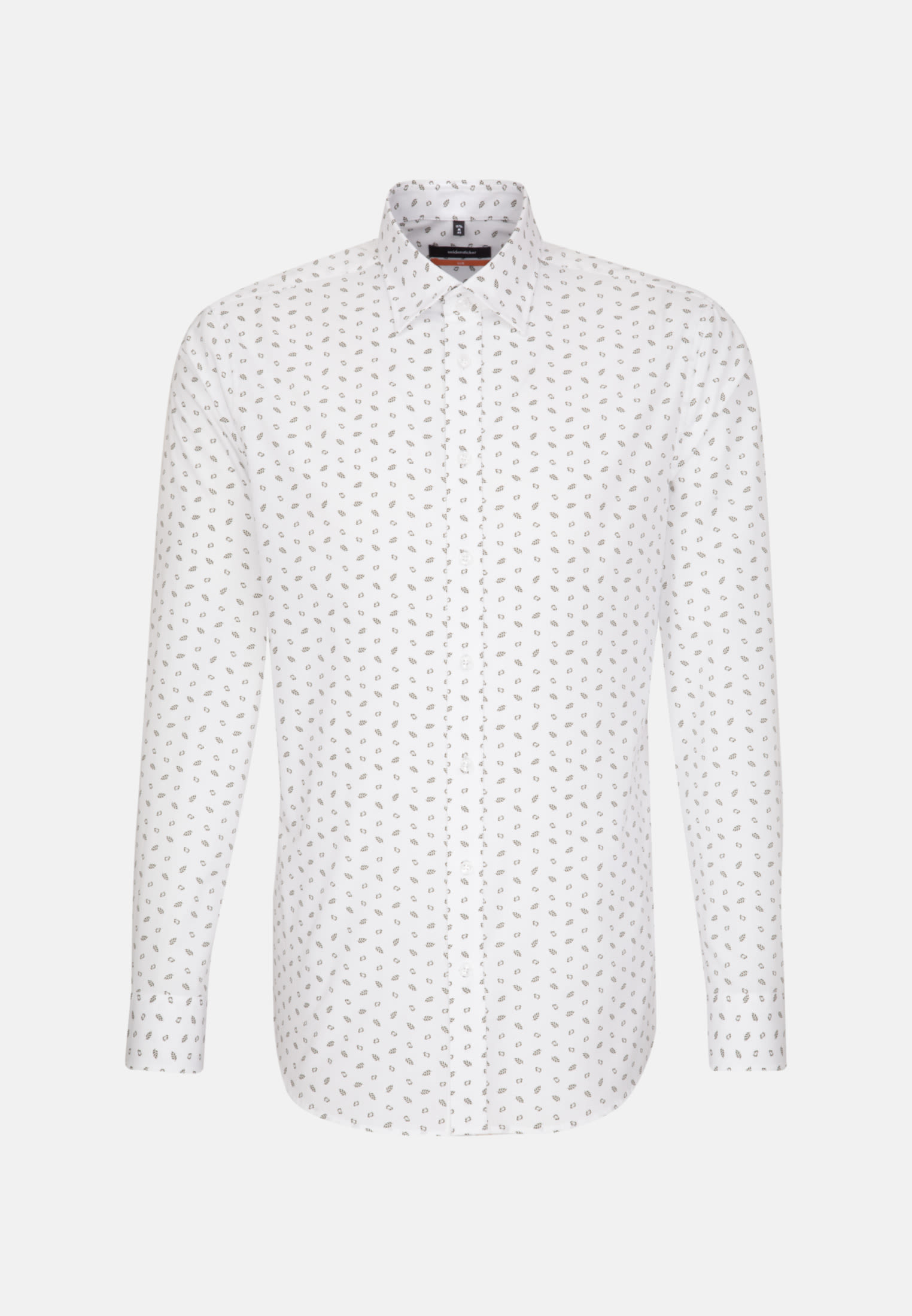 Easy-iron Poplin Business Shirt in Slim with Covered-Button-Down-Collar in White |  Seidensticker Onlineshop