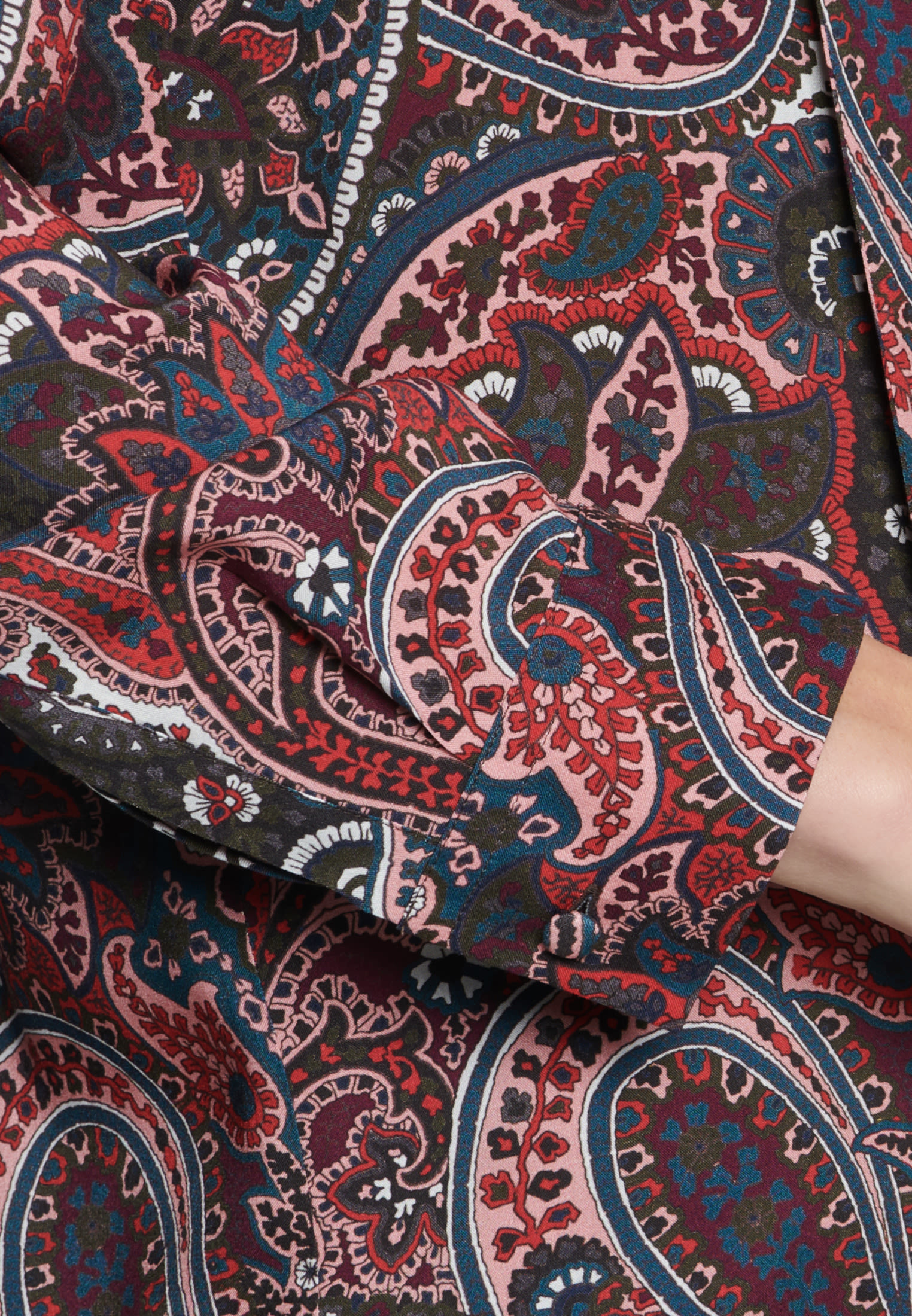 Voile Tie-Neck Blouse made of 100% Viscose in Red |  Seidensticker Onlineshop