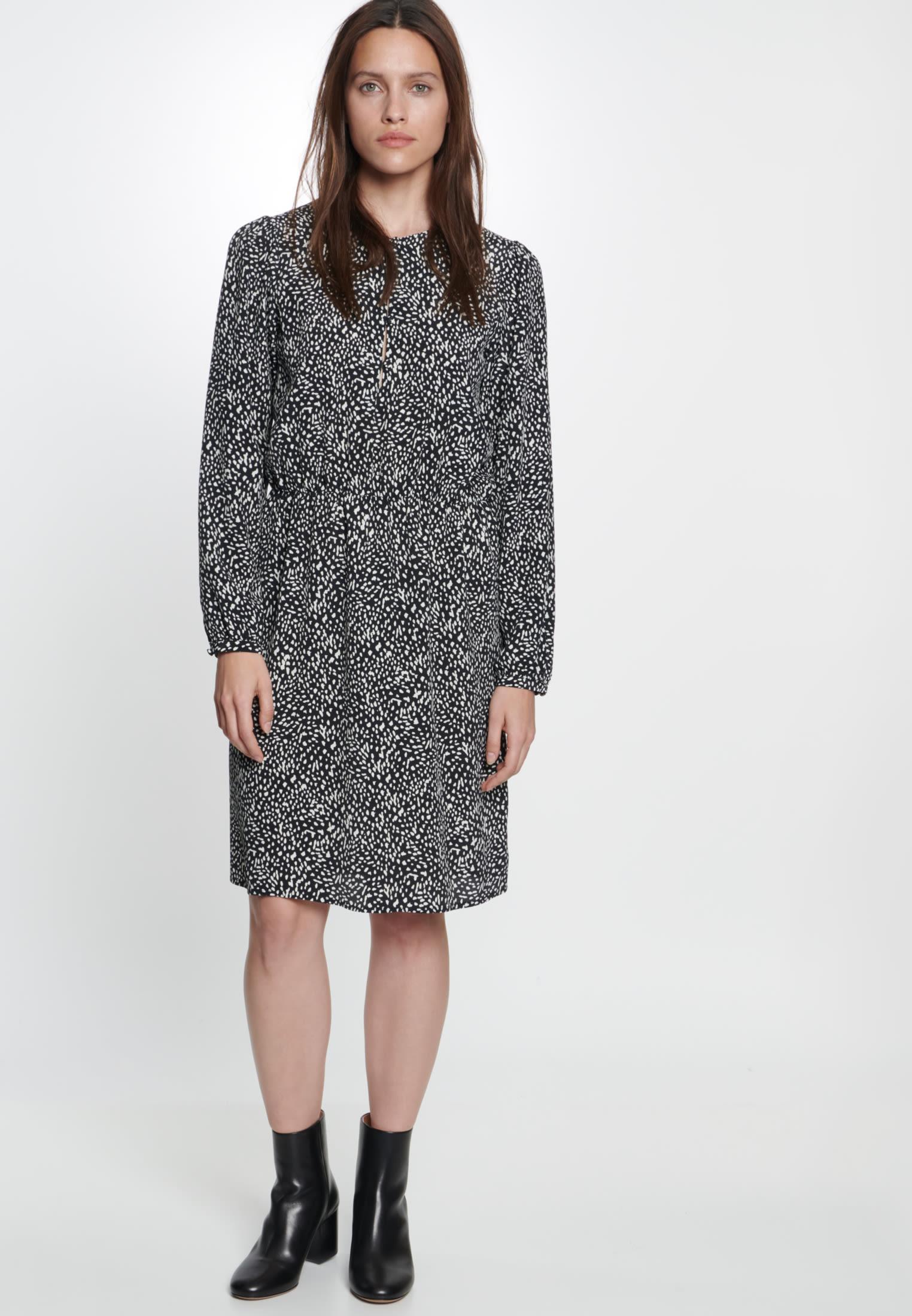 Krepp Kleid aus 100% Viskose in Grau |  Seidensticker Onlineshop