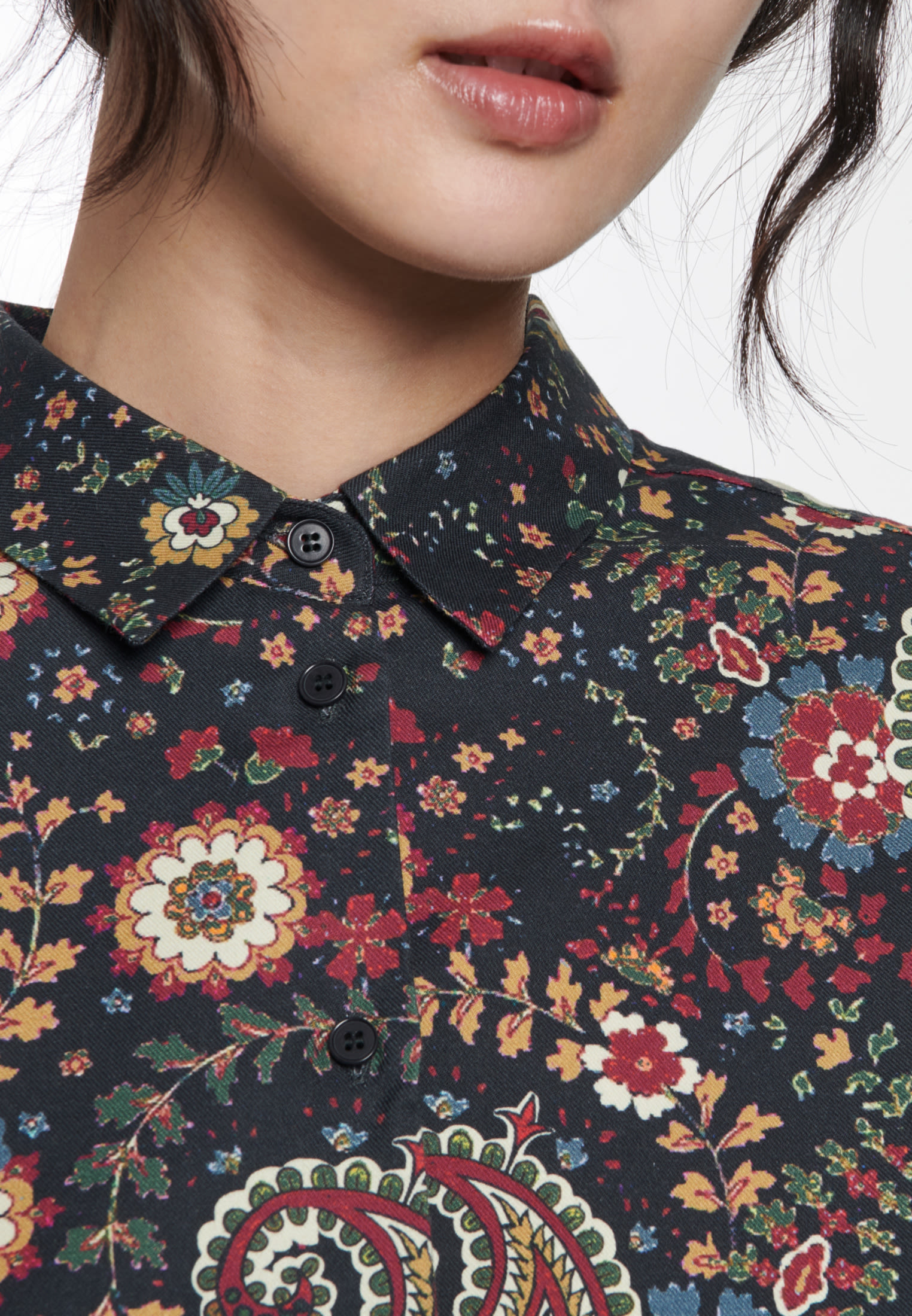 Twill Hemdbluse aus 100% Baumwolle in Grau |  Seidensticker Onlineshop