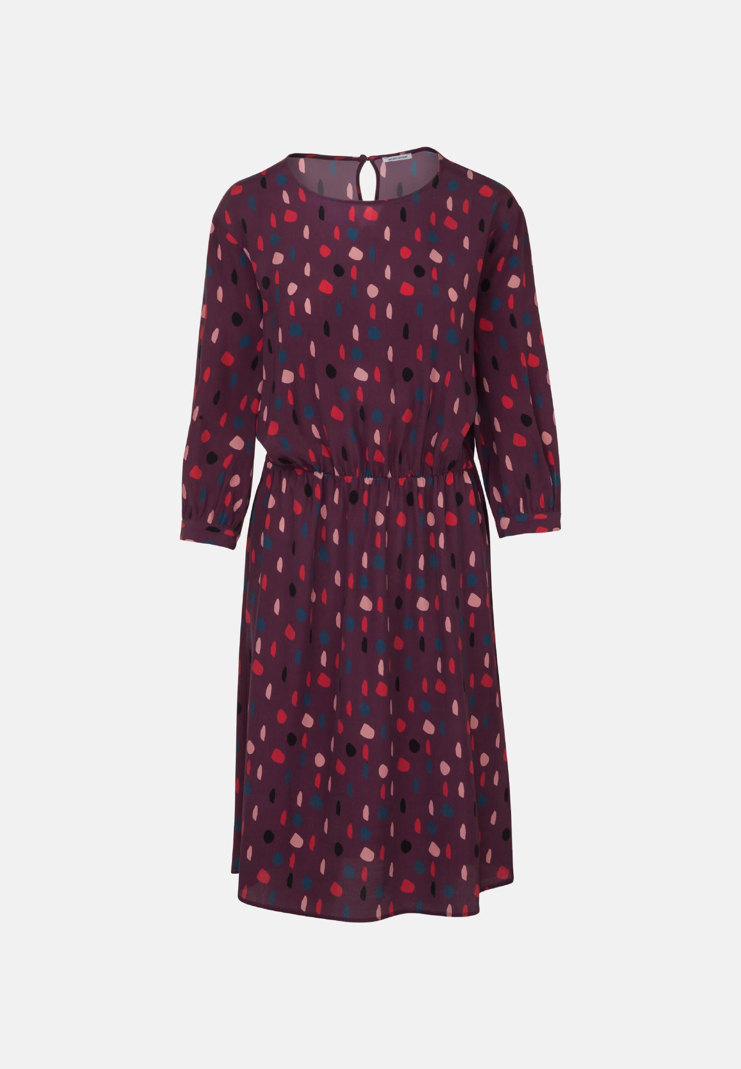 Chiffon Midi Kleid aus 100% Viskose in Rot |  Seidensticker Onlineshop