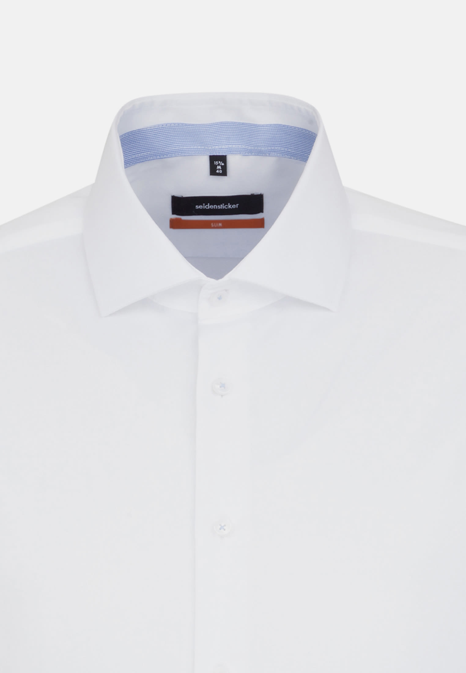 Non-iron Twill Business Shirt in Slim with Kent-Collar and extra long sleeve in White |  Seidensticker Onlineshop