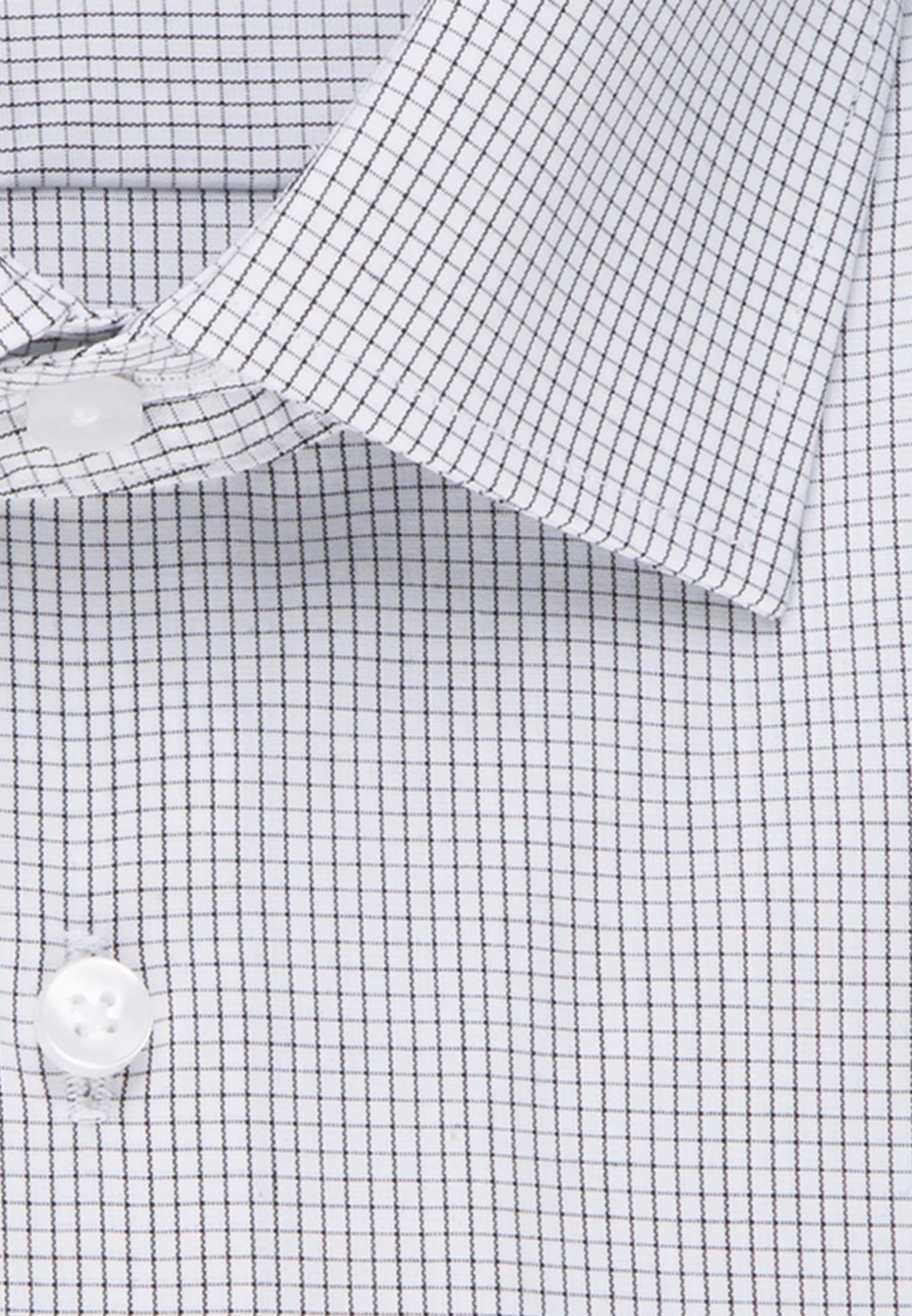 Non-iron Poplin Business Shirt in Modern with Kent-Collar in Grey |  Seidensticker Onlineshop