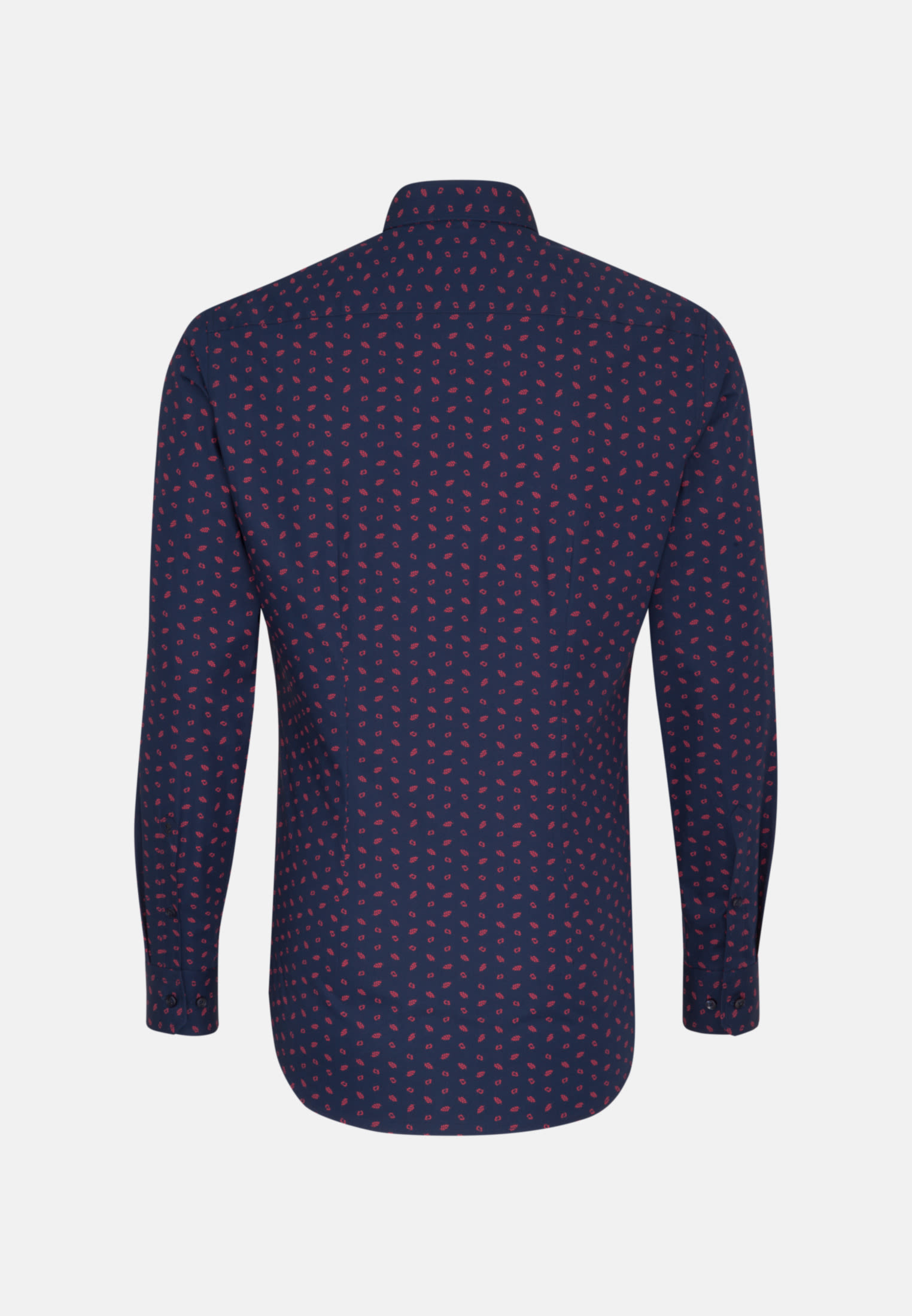 Bügelleichtes Popeline Business Hemd in X-Slim mit Covered-Button-Down-Kragen in Dunkelblau |  Seidensticker Onlineshop