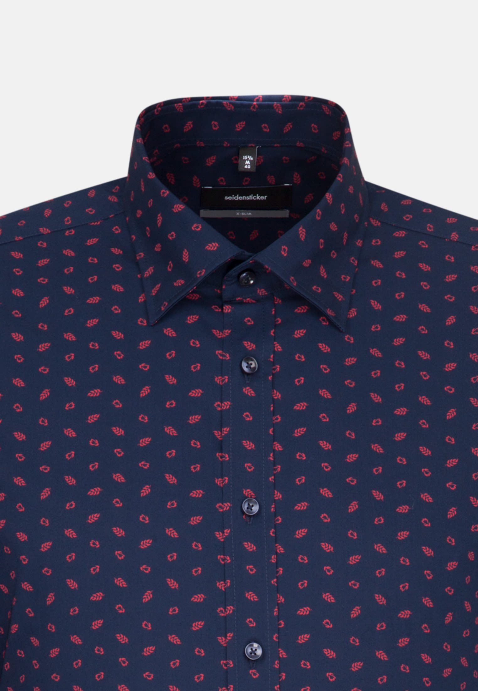Easy-iron Poplin Business Shirt in X-Slim with Covered-Button-Down-Collar in rot |  Seidensticker Onlineshop