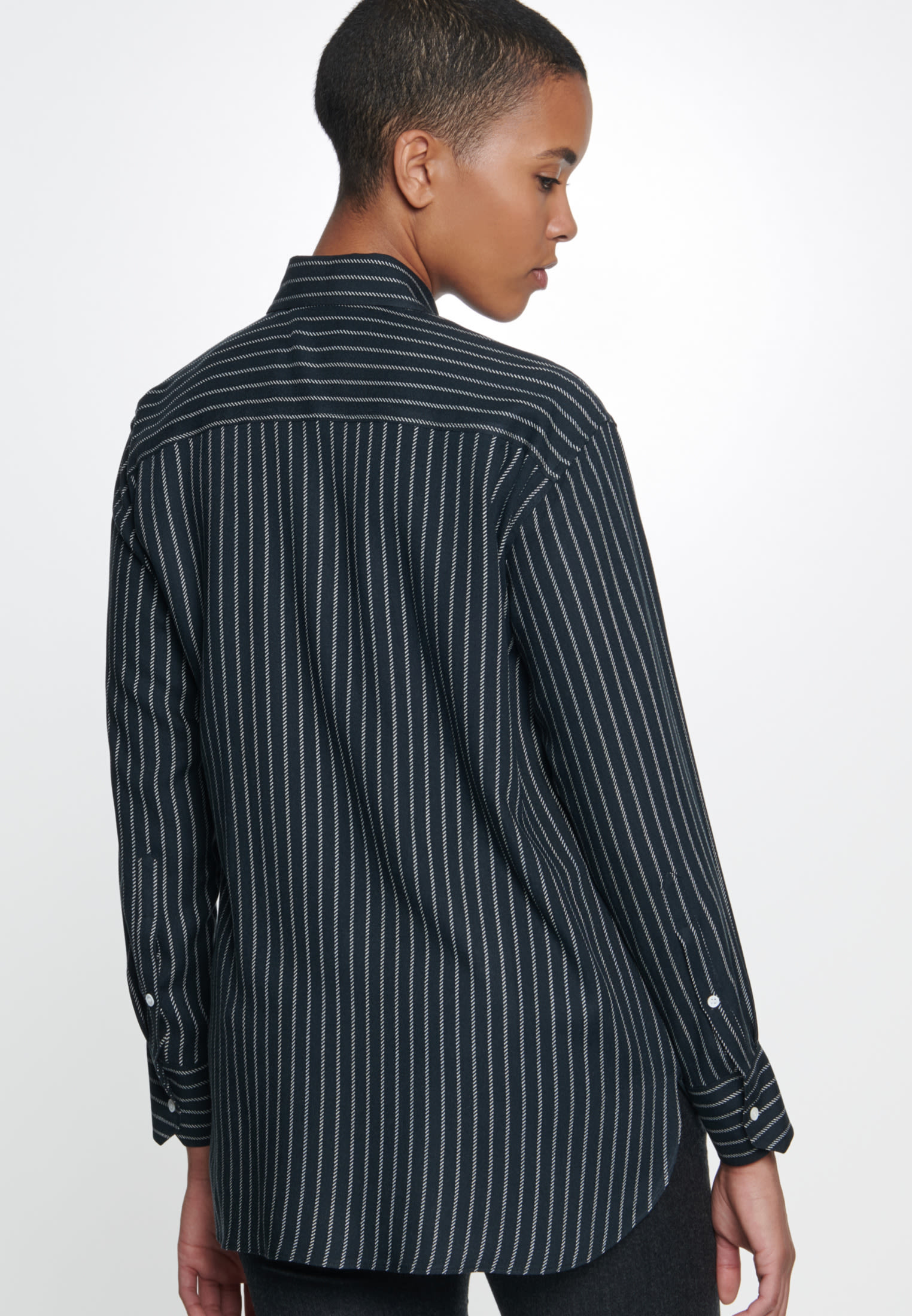 Twill Shirt Blouse made of 100% Viscose in Black |  Seidensticker Onlineshop