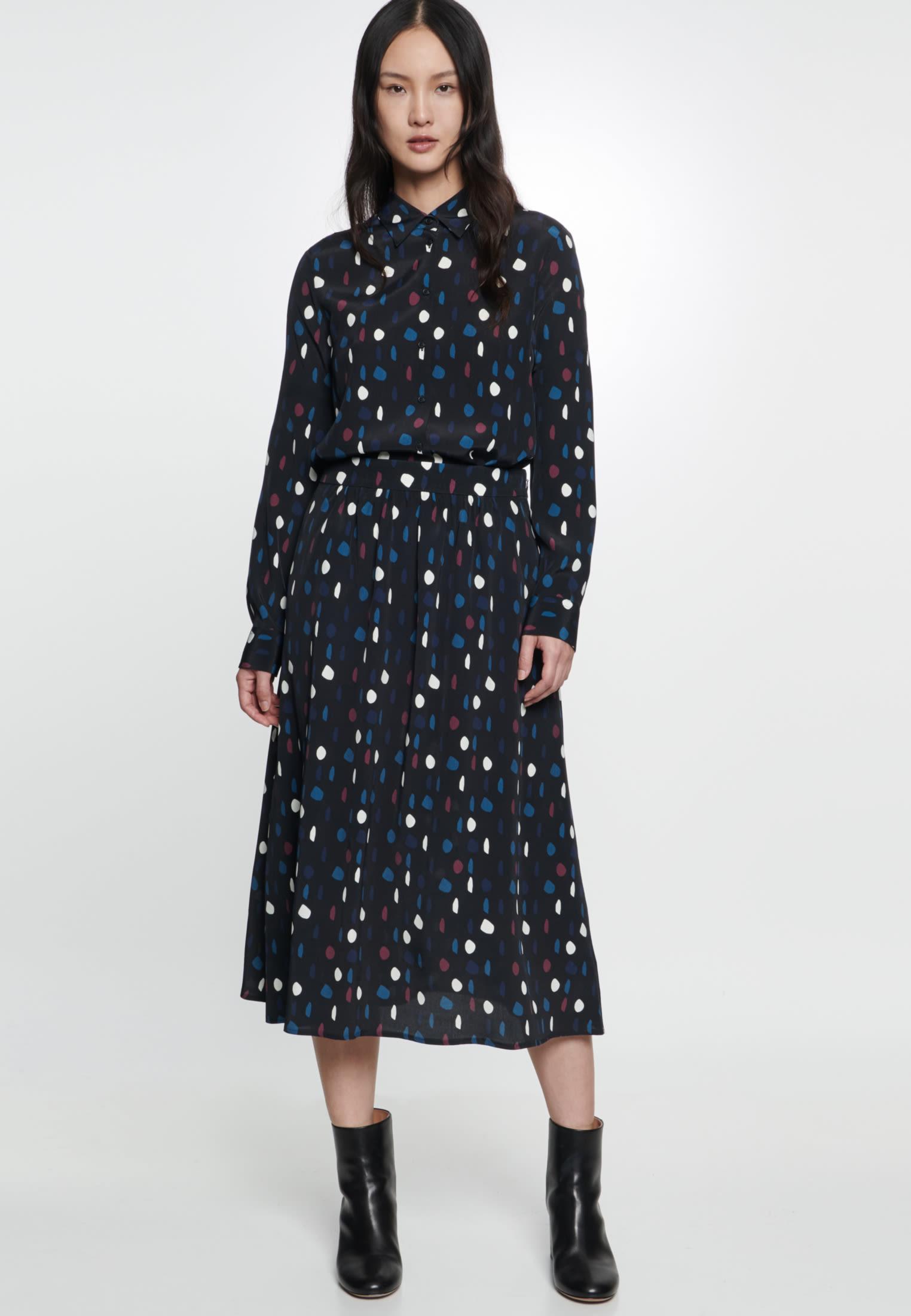 Chiffon Midi Skirt made of 100% Viskose in Grey |  Seidensticker Onlineshop
