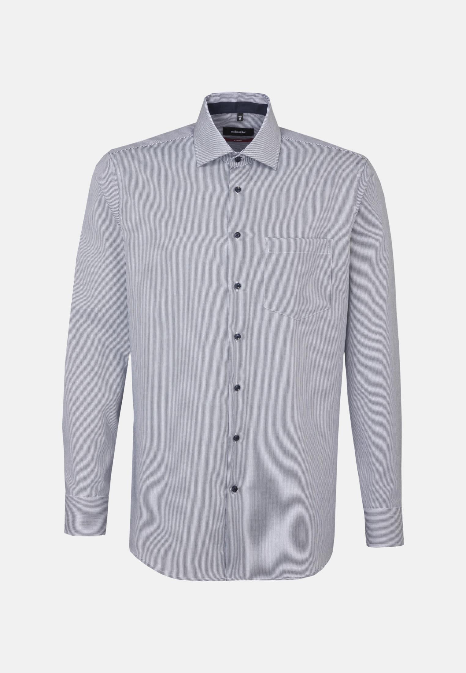 Bügelfreies Twill Business Hemd in Modern mit Kentkragen in Dunkelblau |  Seidensticker Onlineshop