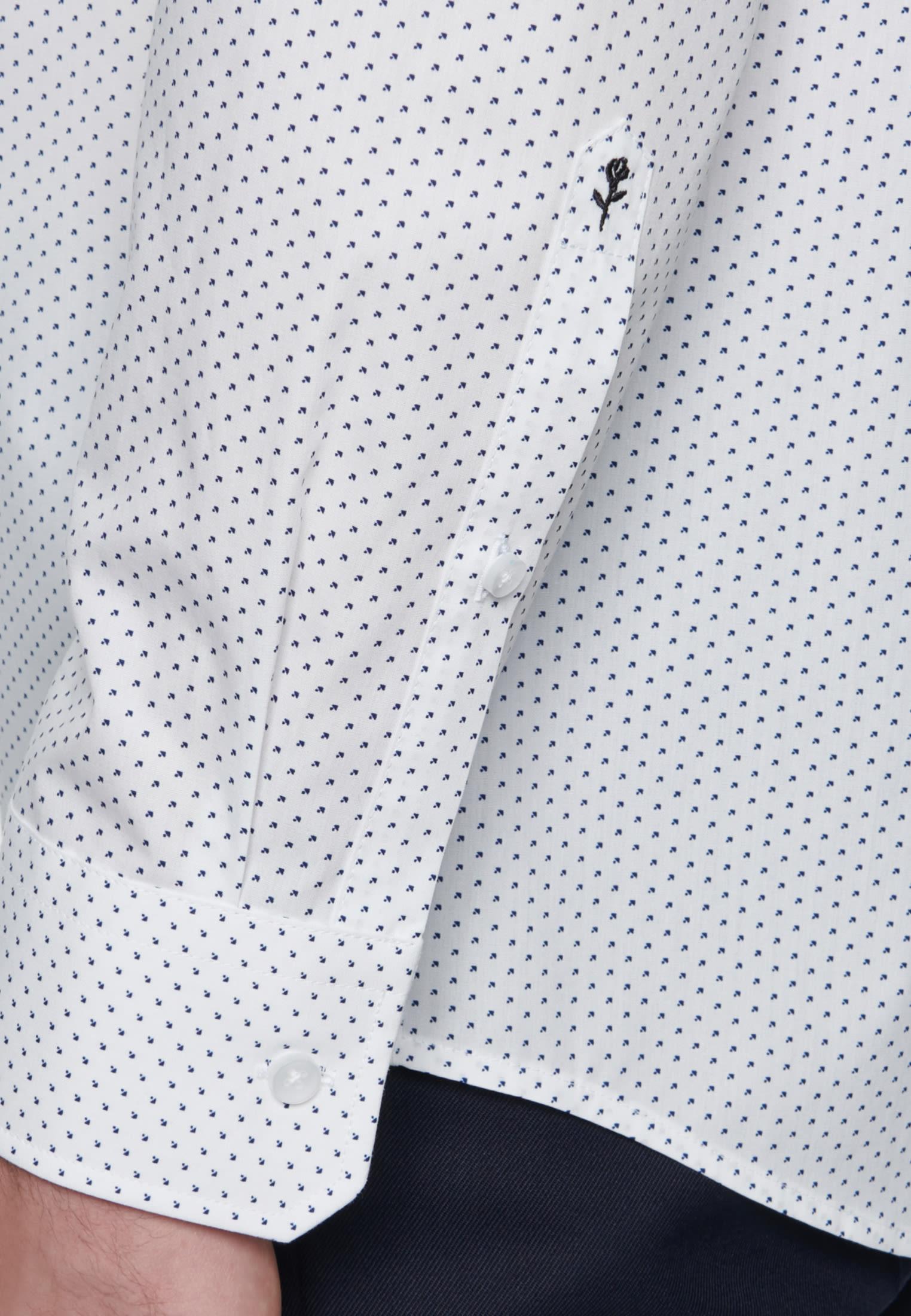 Easy-iron Poplin Business Shirt in Regular with Kent-Collar in White |  Seidensticker Onlineshop