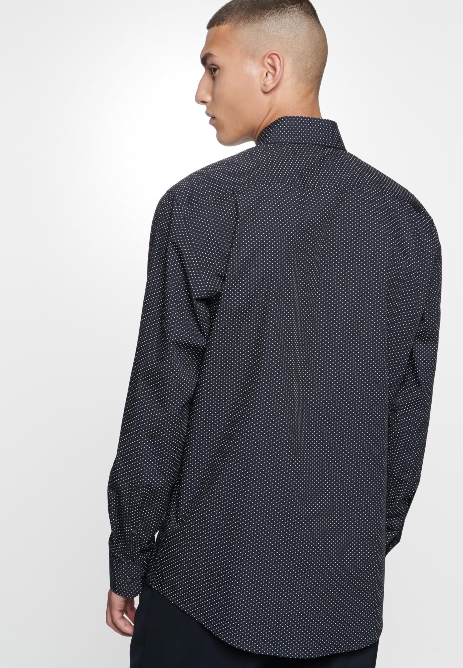 Easy-iron Poplin Business Shirt in Regular with Kent-Collar in Black |  Seidensticker Onlineshop