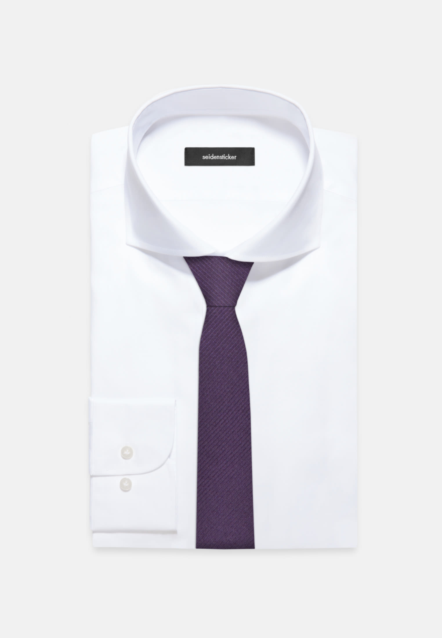 Tie made of 100% Silk 5 cm wide in Purple |  Seidensticker Onlineshop