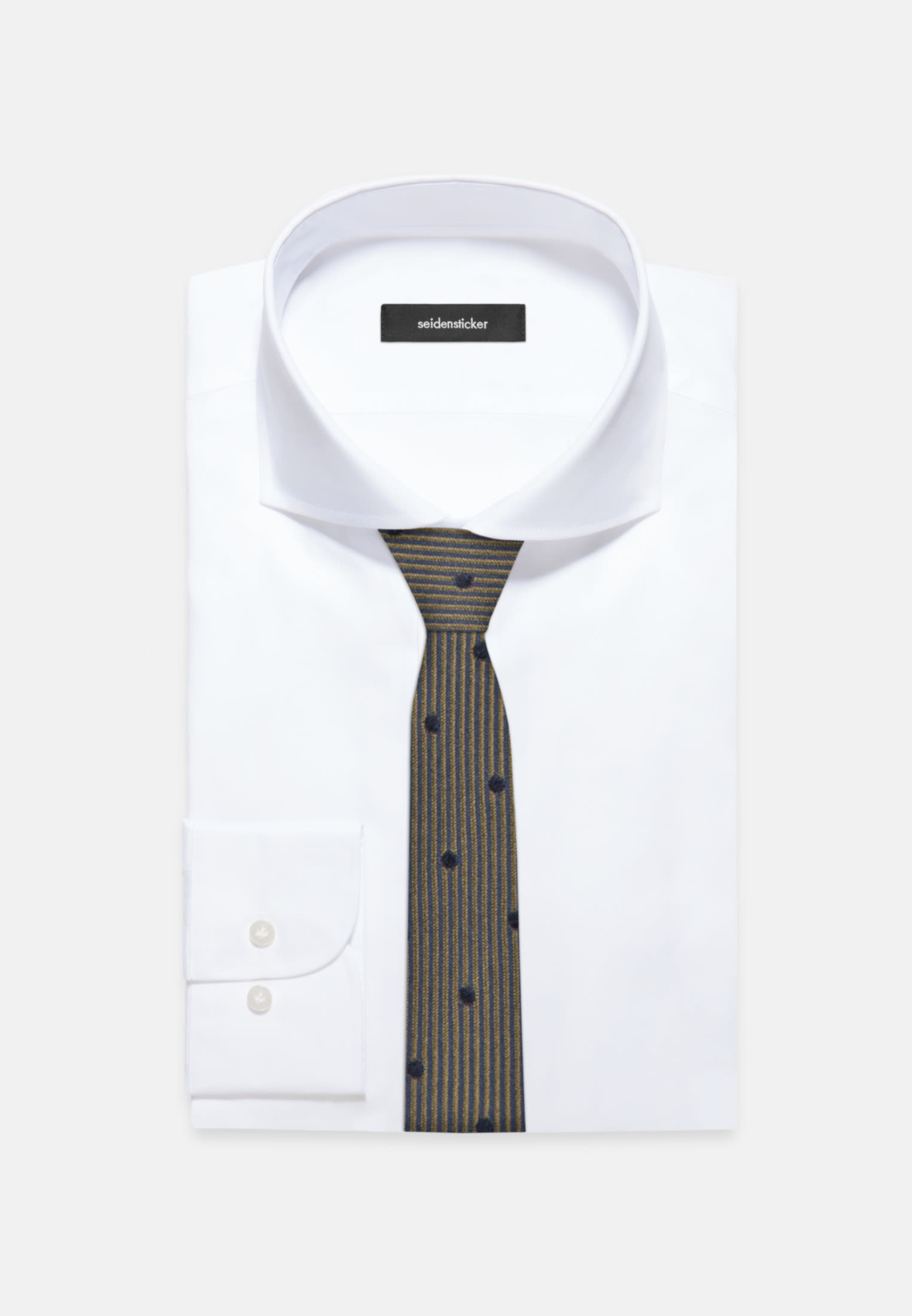 Tie made of 100% Silk 5 cm wide in Yellow    Seidensticker Onlineshop