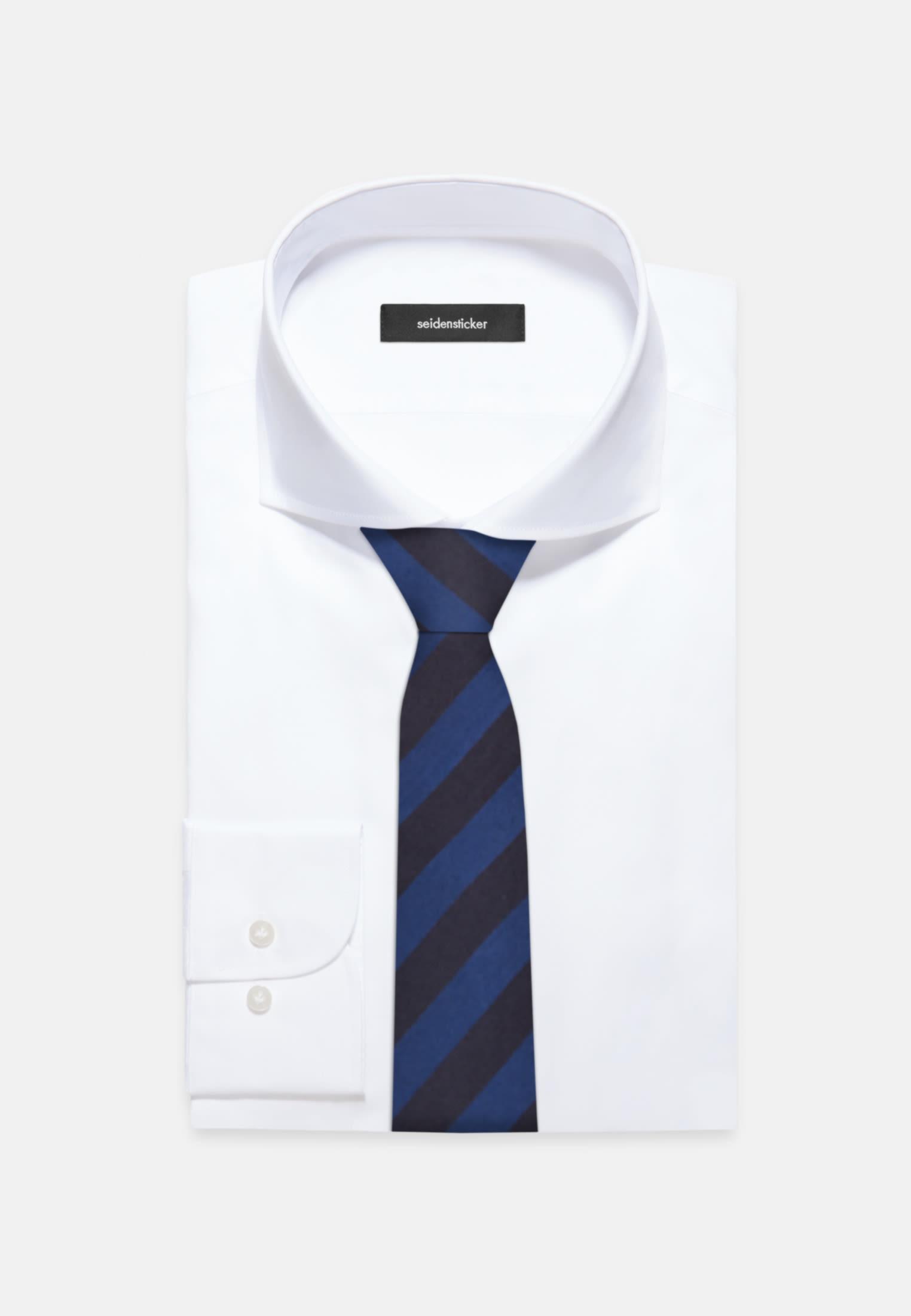 Krawatte aus 100% Seide 7 cm Breit in Mittelblau |  Seidensticker Onlineshop
