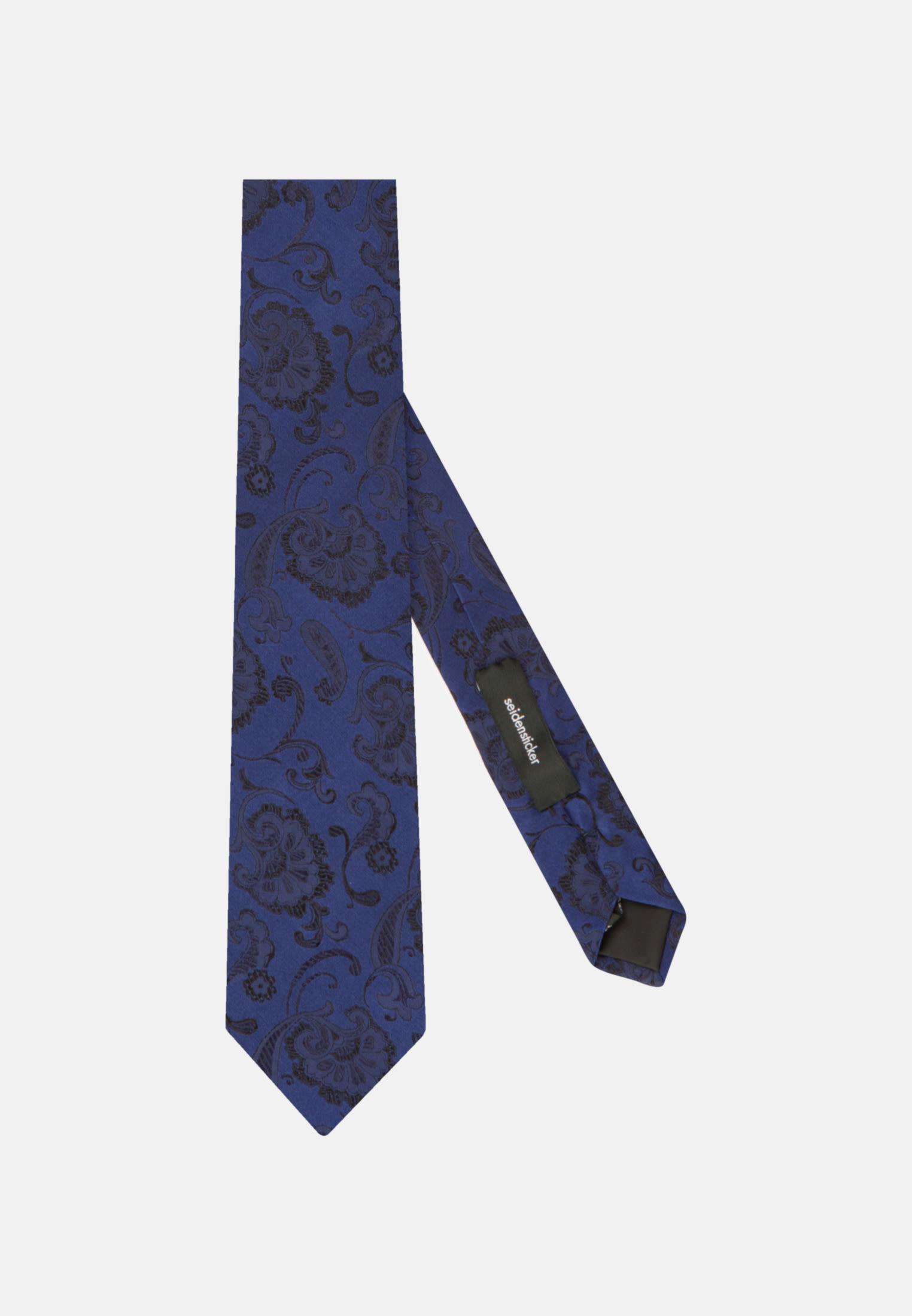 Tie made of 100% Silk 7 cm wide in blau    Seidensticker Onlineshop