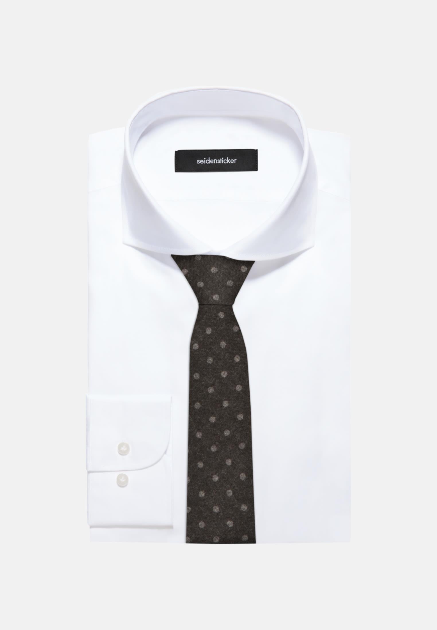 Tie made of 100% Wool 7 cm wide in Black |  Seidensticker Onlineshop
