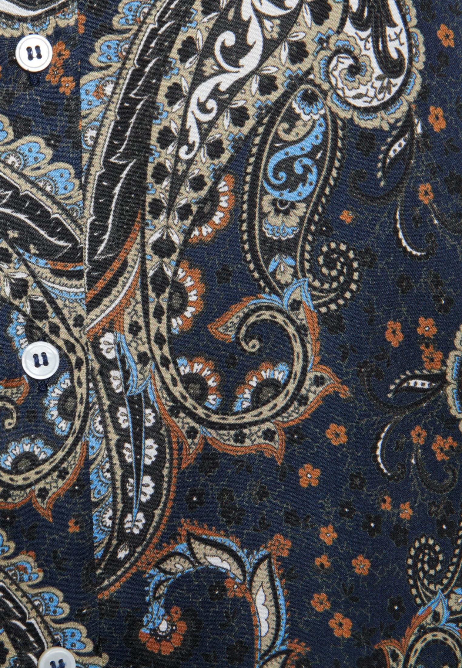 Voile Shirt Blouse made of 100% Viscose in Dark blue |  Seidensticker Onlineshop