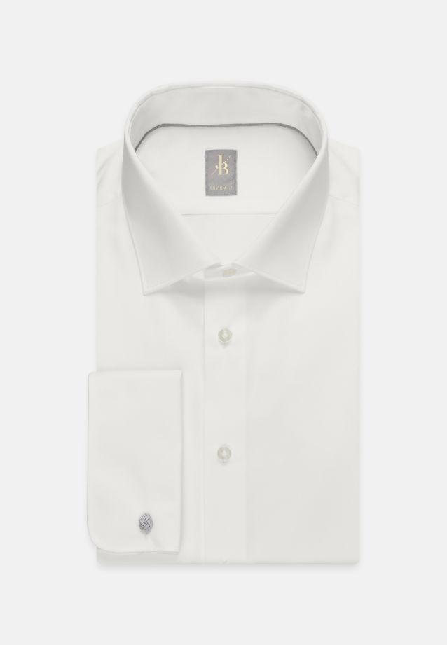Satin Business Hemd in Custom Fit mit Kentkragen in Ecru |  Jacques Britt Onlineshop
