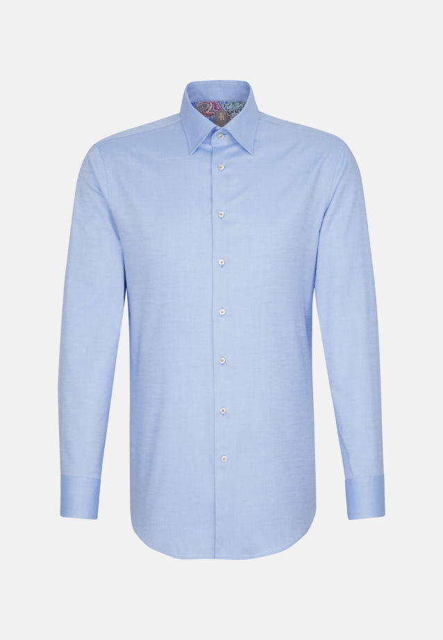 Oxford Business Hemd in Custom Fit mit Under-Button-Down-Kragen in Hellblau |  Jacques Britt Onlineshop